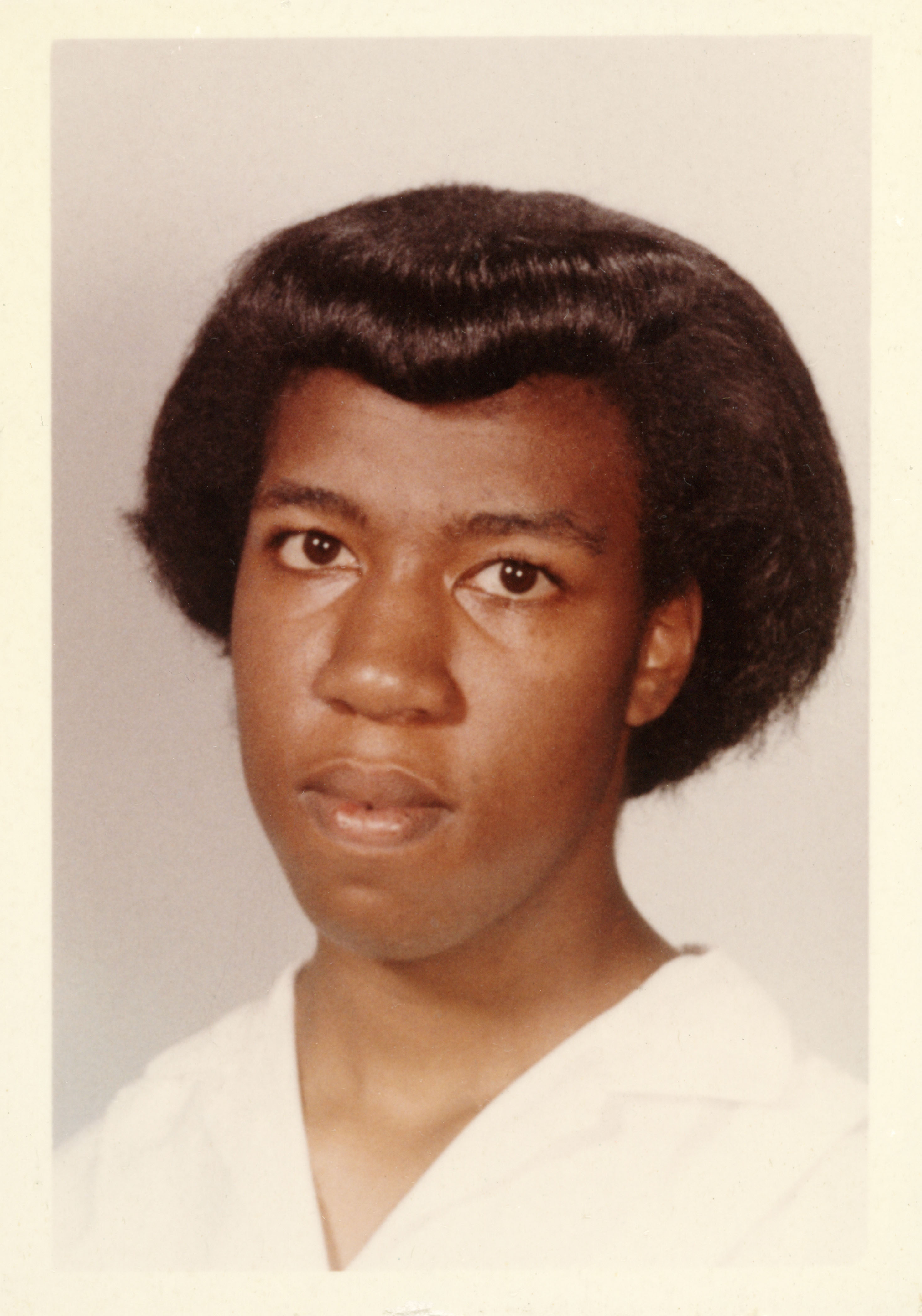 School photograph of Octavia E. Butler, ca. 1962. The Huntington Library, Art Collections, and Botanical Gardens.