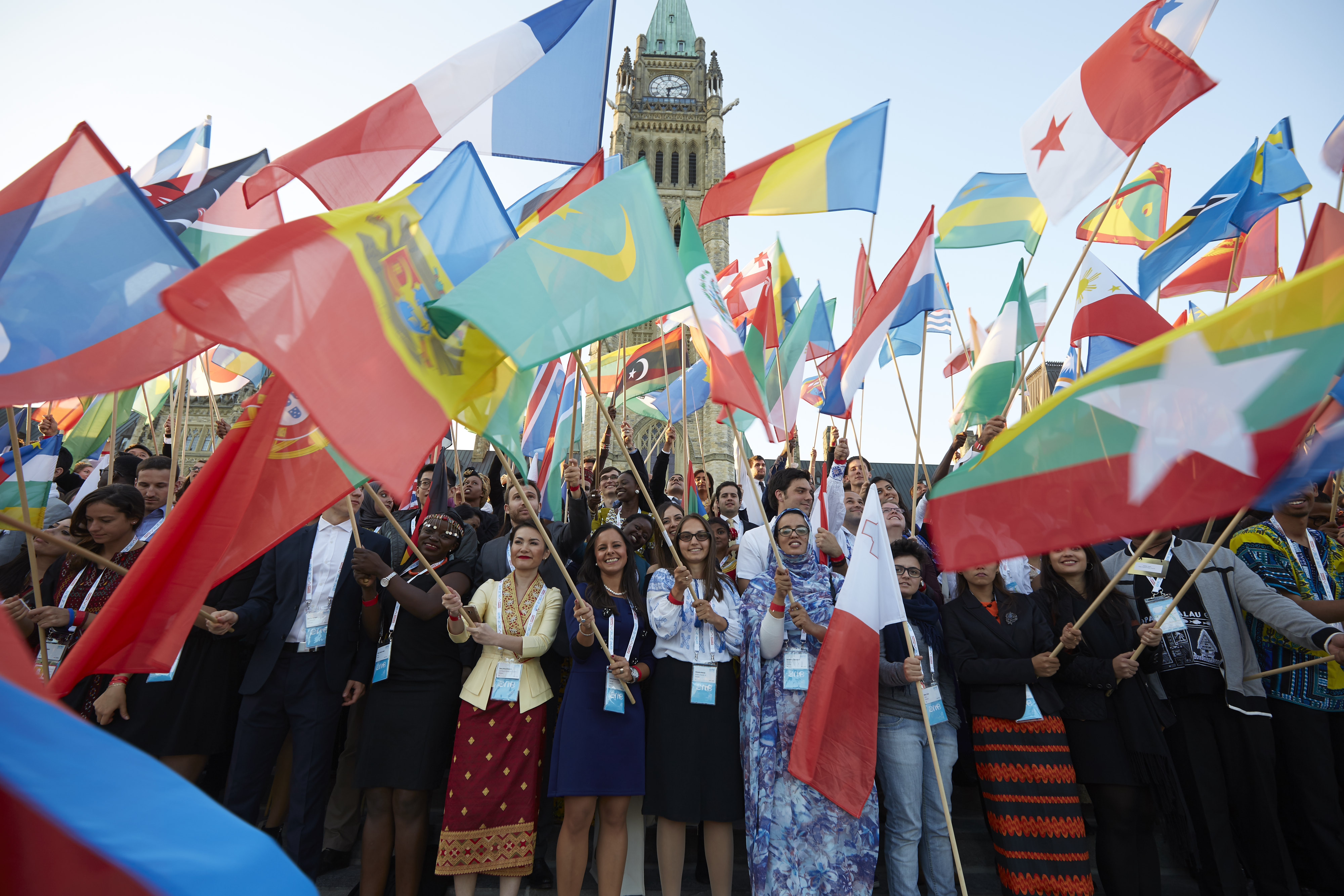 Young leaders attend the One Young World Summit in Ottawa, 2016.