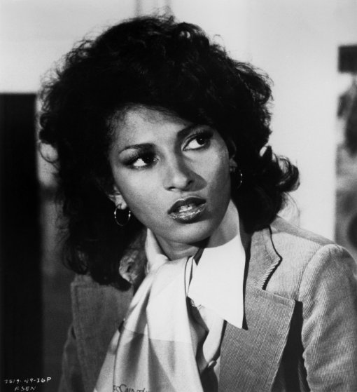 """Actress Pam Grier poses for a portrait for the movie """"Friday Foster"""" circa 1975 in Los Angeles"""