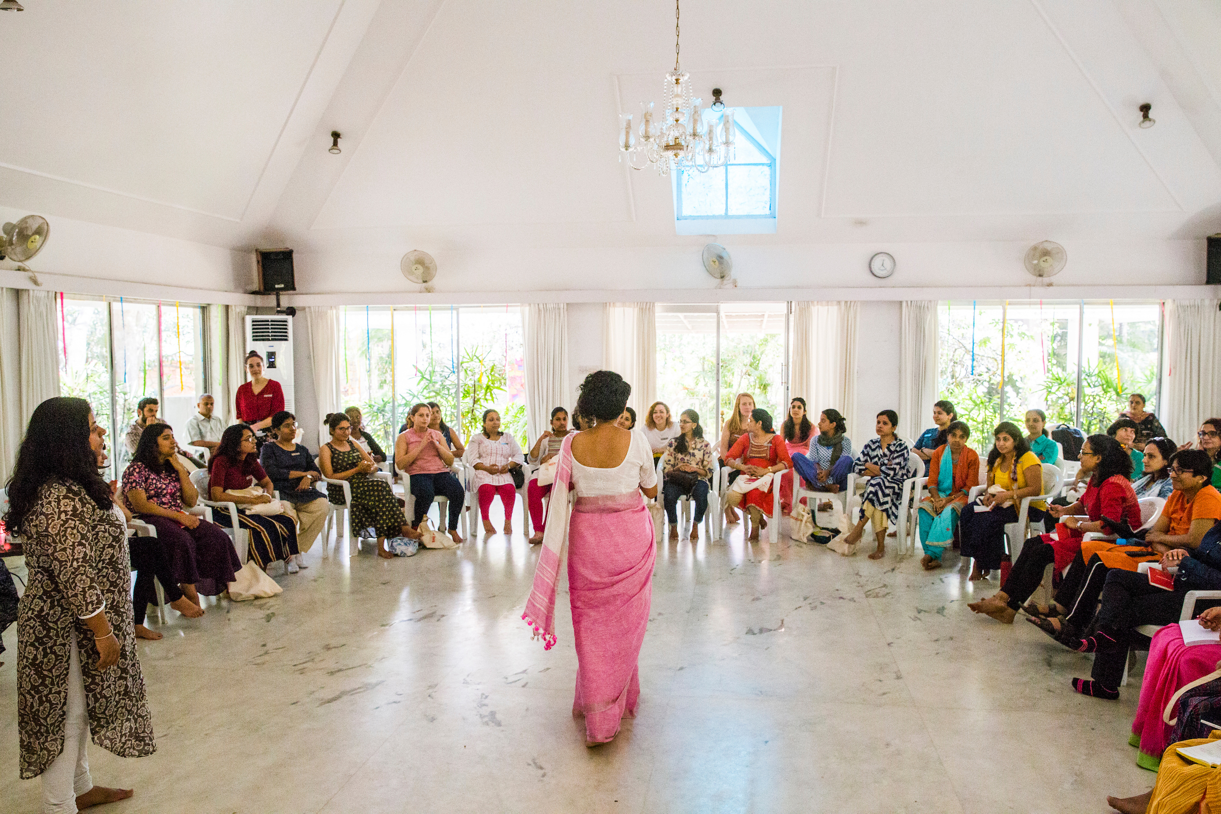 Preethi Herman addresses 30 new Changemakers, part of the She Creates Change program empowering women to start and lead social change campaigns across India.