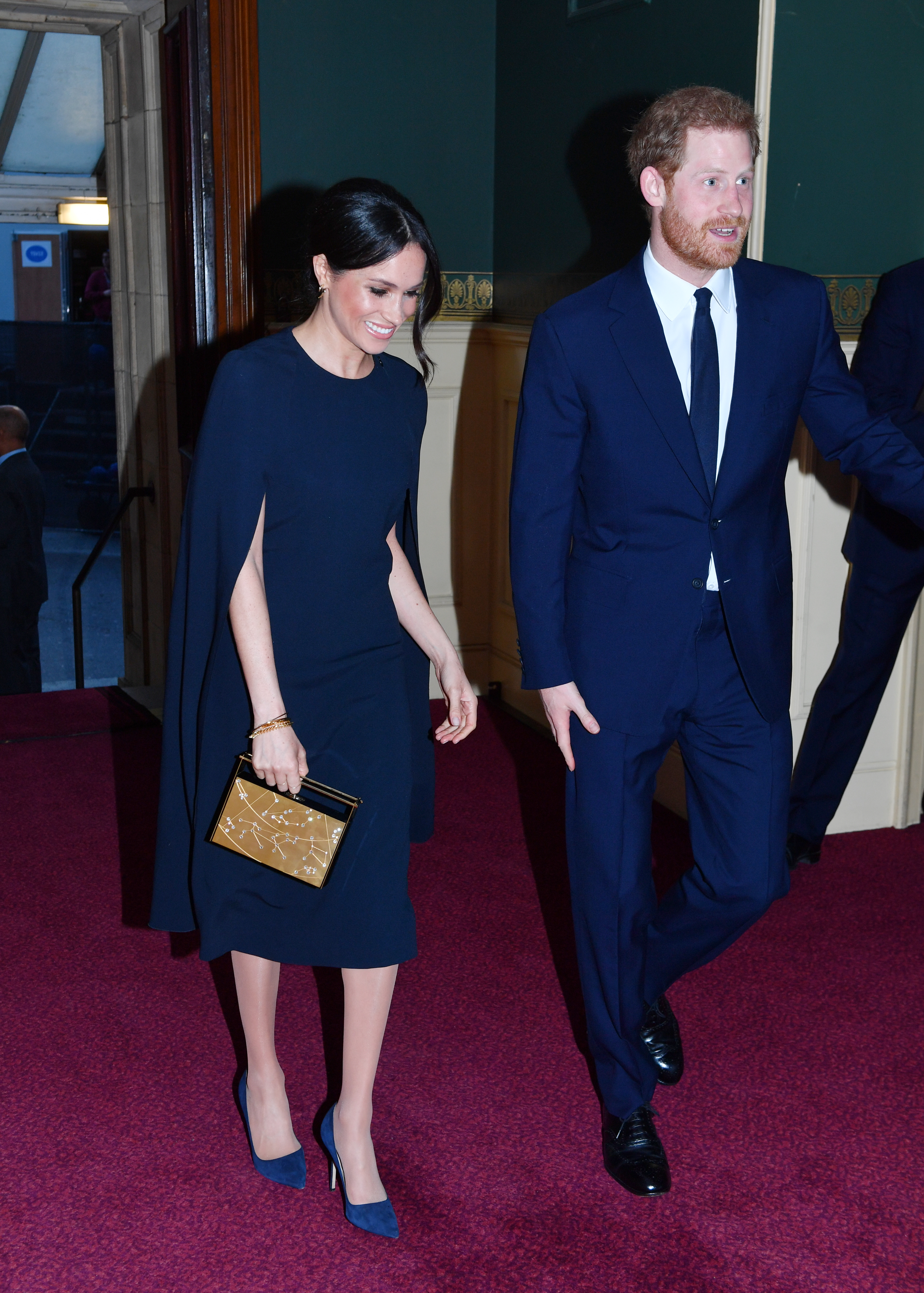 Prince Harry and Meghan Markle arrive at the Royal Albert Hall to attend a star-studded concert to celebrate the Queen's 92nd birthday on April 21, 2018 in London, England.  The Queen and members of the royal family are guests of honour at the celebration, which is being billed as The Queen's Birthday Party.