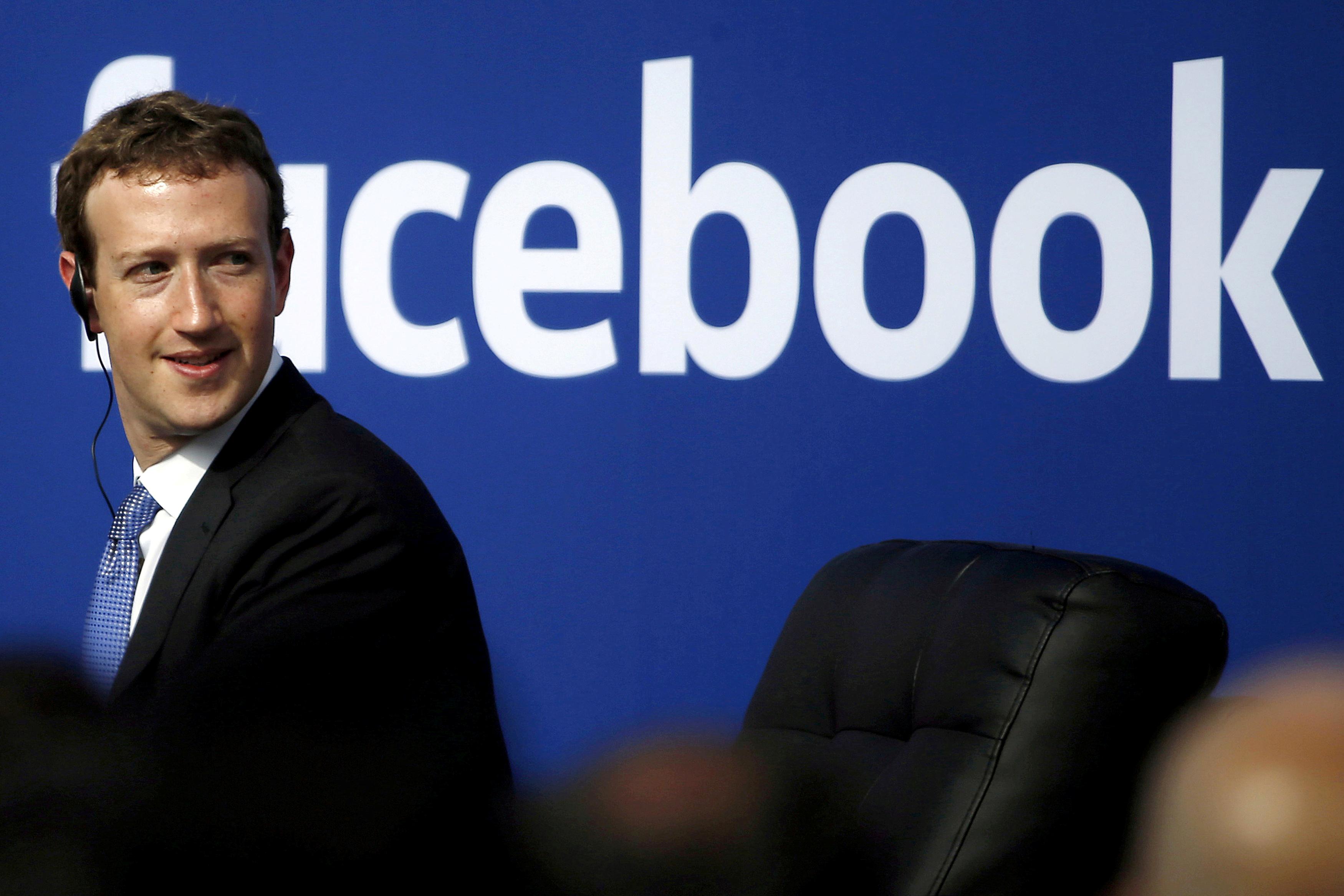 Facebook CEO Mark Zuckerberg in Menlo Park, Calif., on Sept. 27, 2015.