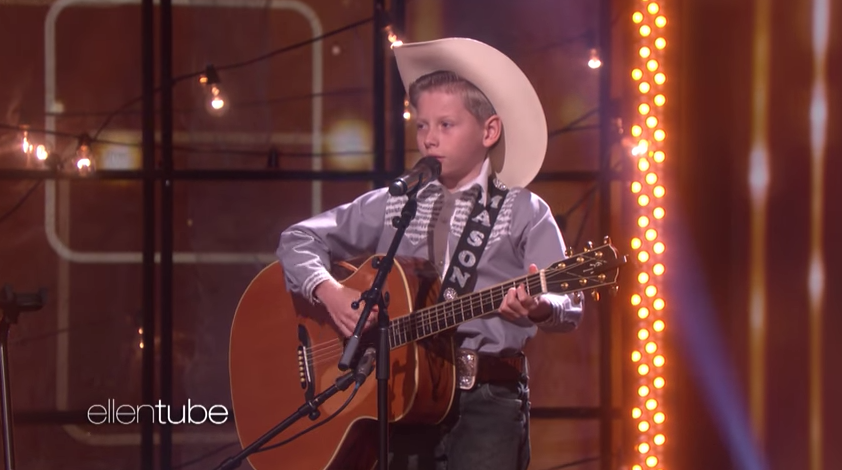 Mason Ramsey, the  Walmart yodeling kid,  performs on  The Ellen DeGeneres Show