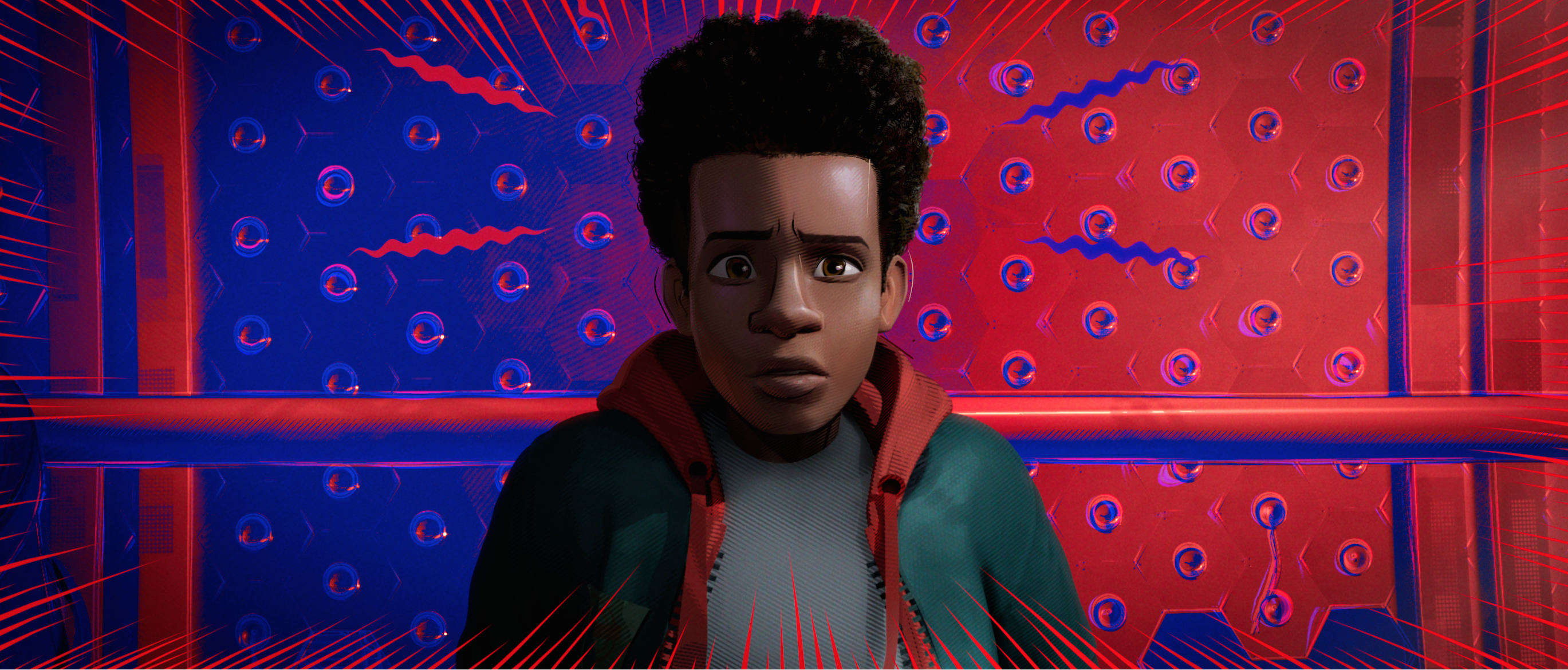 Miles Morales is voiced by Shameik Moore in  Spider-Man: Into the Spider-Verse