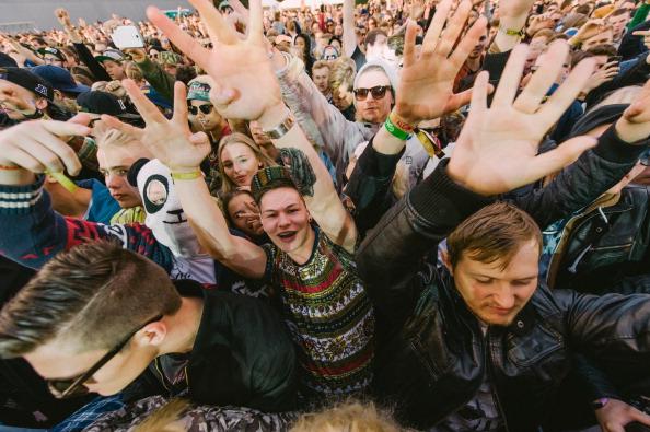 A general view of crowd atmosphere during Secret Solstice Music Festival 2014 on June 22, 2014 in Reykjavik, Iceland.