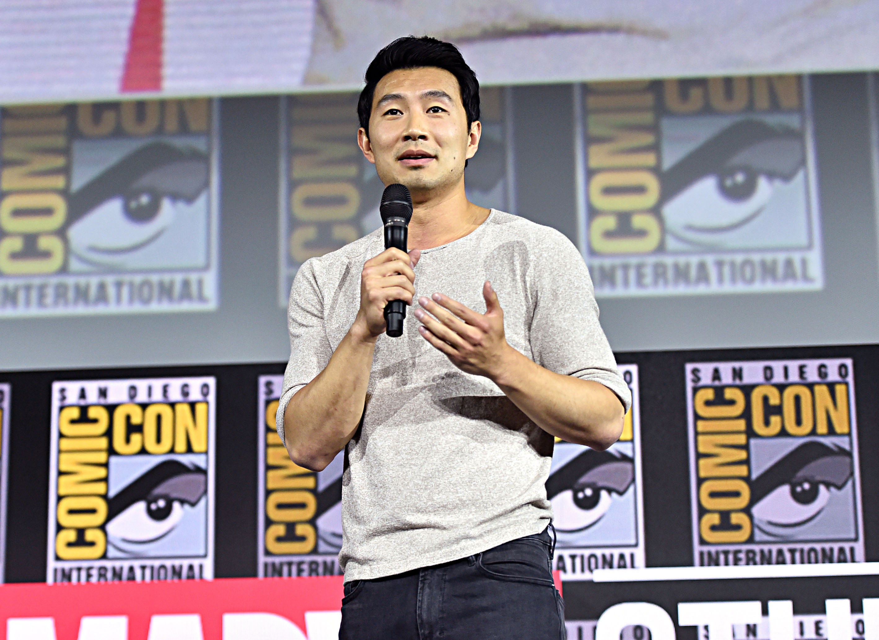 Simu Liu of Marvel Studios' 'Shang-Chi and the Legend of the Ten Rings' at the San Diego Comic-Con 2019