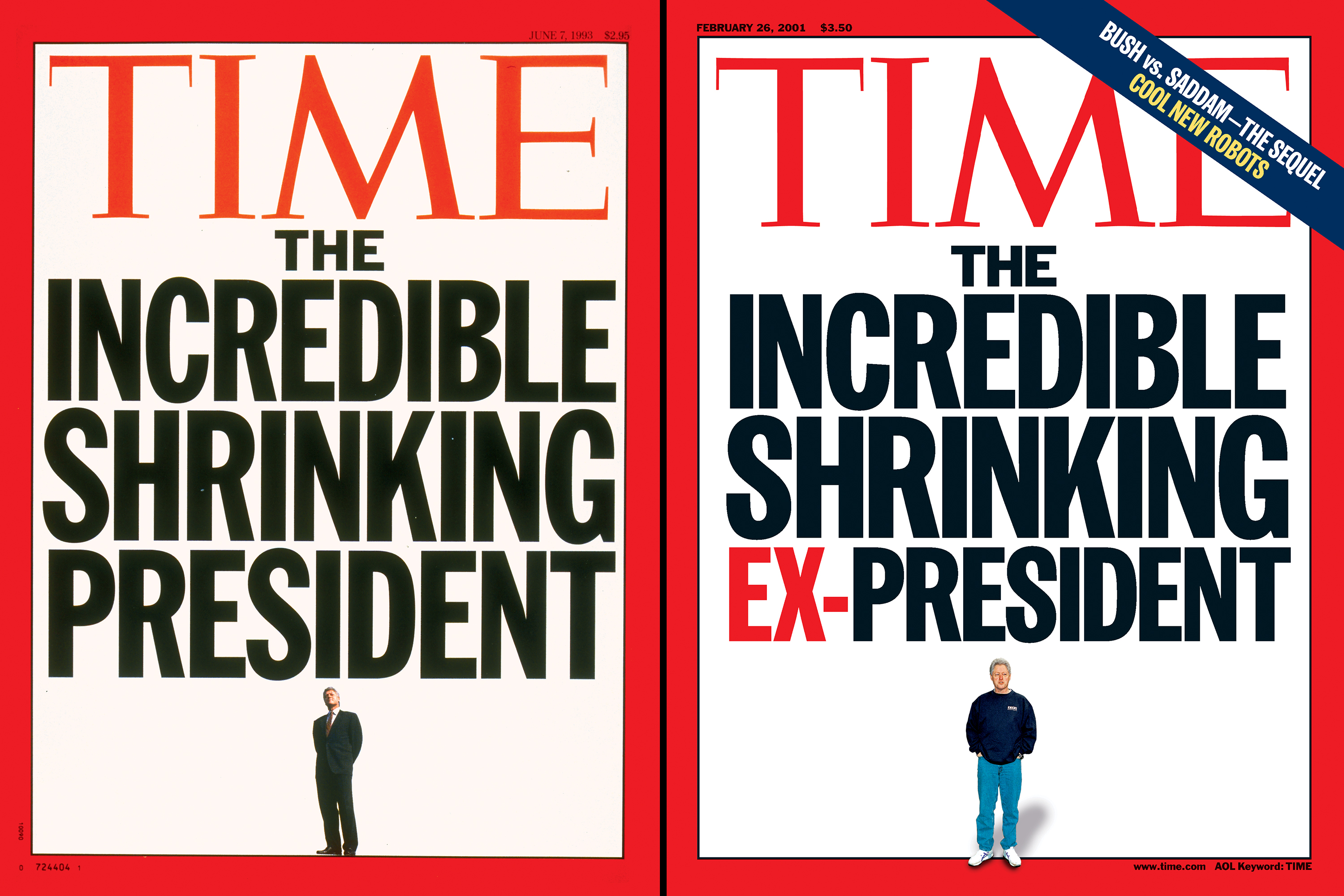 The Incredible Shrinking President,  June 7, 1993;  The Incredible Shrinking Ex-President,  Feb. 26, 2001