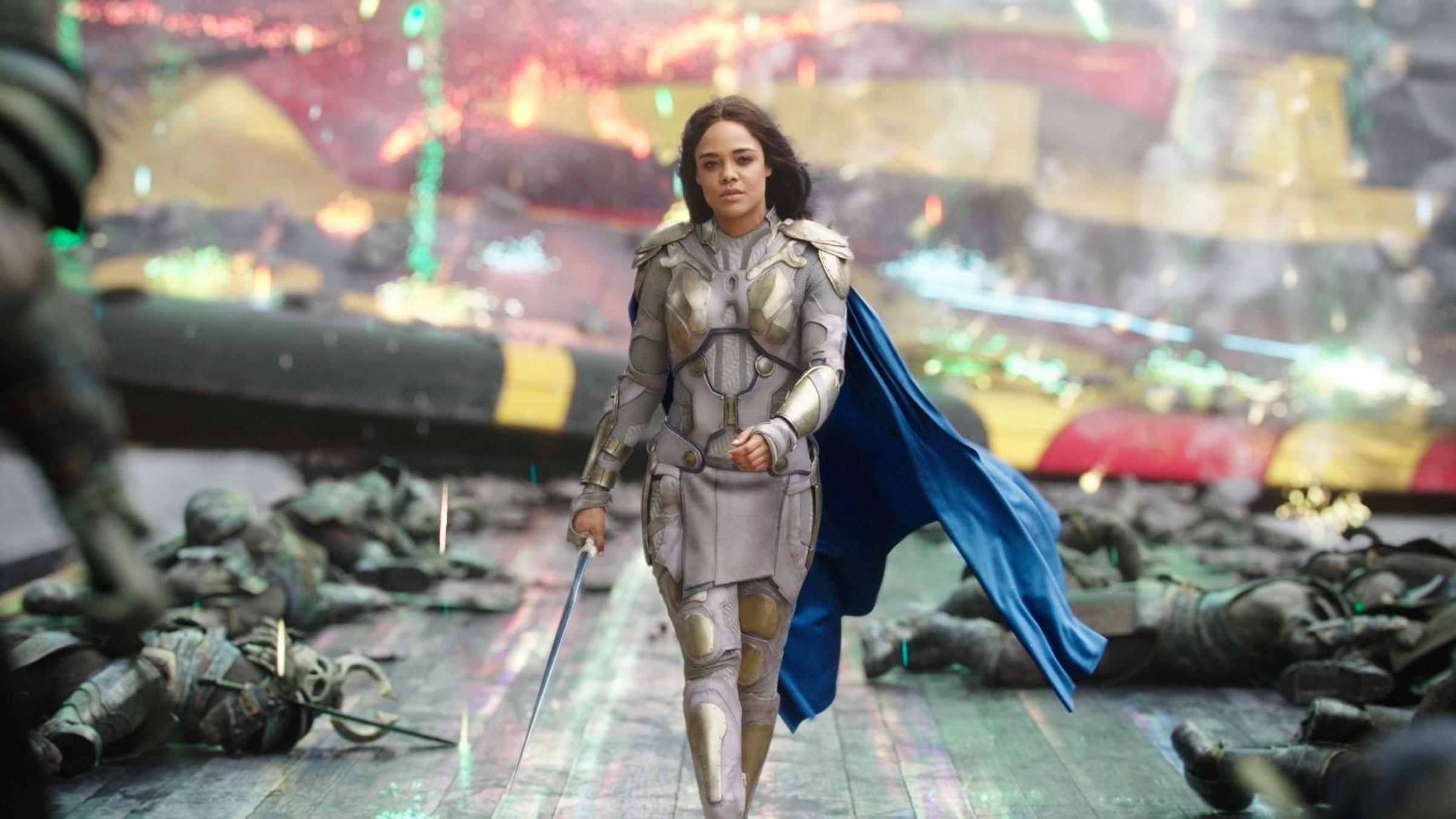 Tessa Thompson as Valkery in  Thor: Ragnarok