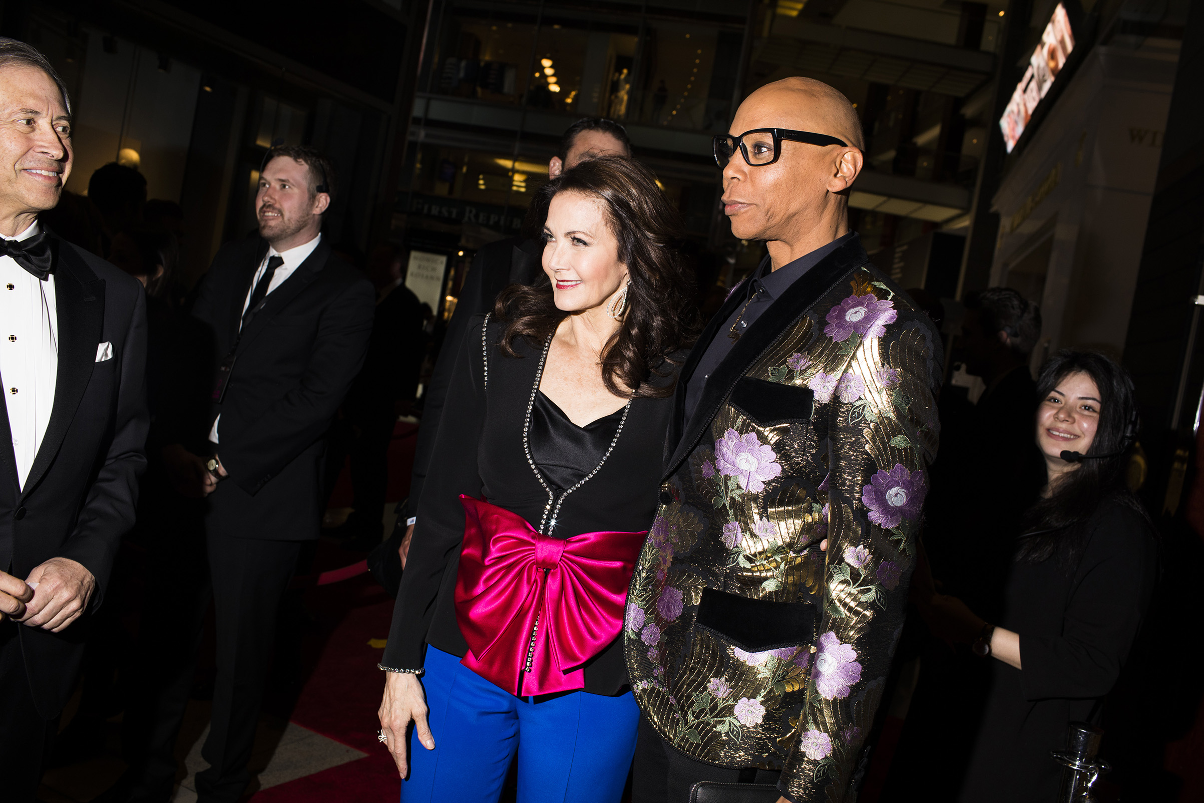 Lynda Carter and RuPaul at the Time 100 Gala at Jazz at Lincoln Center on April 24, 2018 in New York City.
