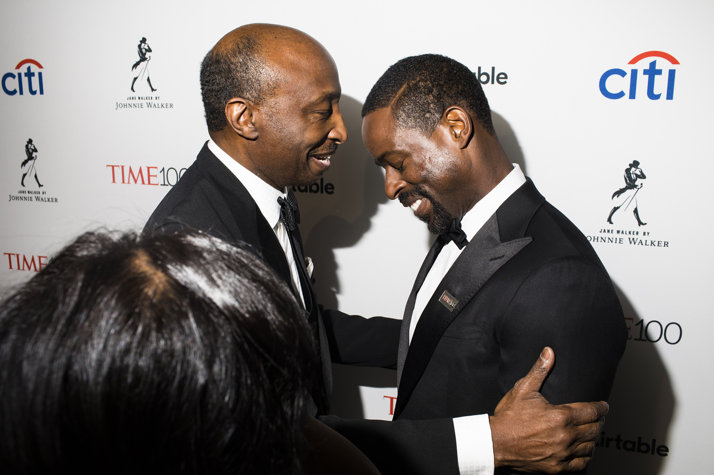 Chairman and CEO Merck & Co., Inc. Kenneth Frazier and actor Sterling K. Brown at the Time 100 Gala at Jazz at Lincoln Center on April 24, 2018 in New York City.