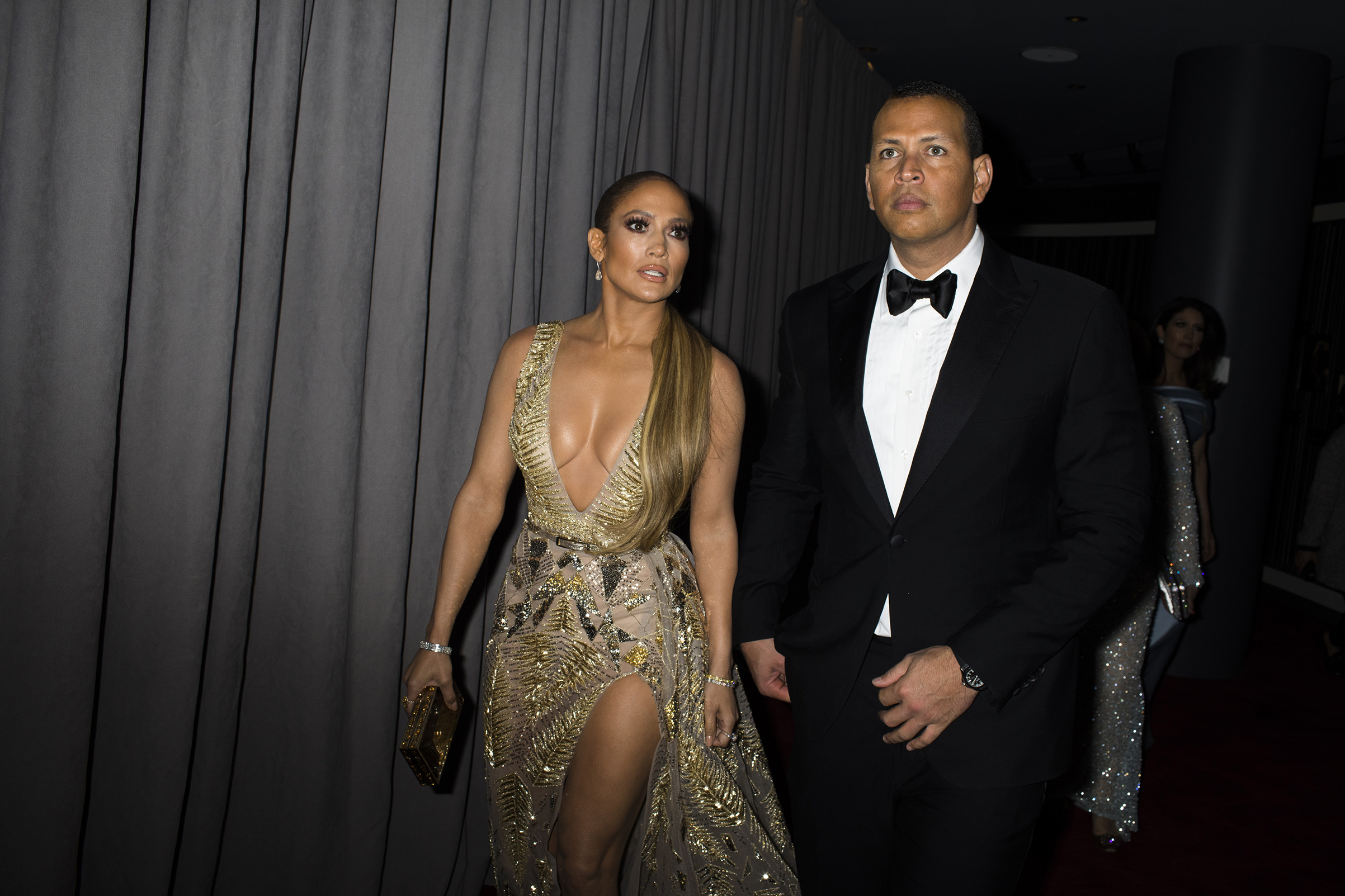 Jennifer Lopez and Alex Rodriguez at the Time 100 Gala at Jazz at Lincoln Center on April 24, 2018 in New York City.