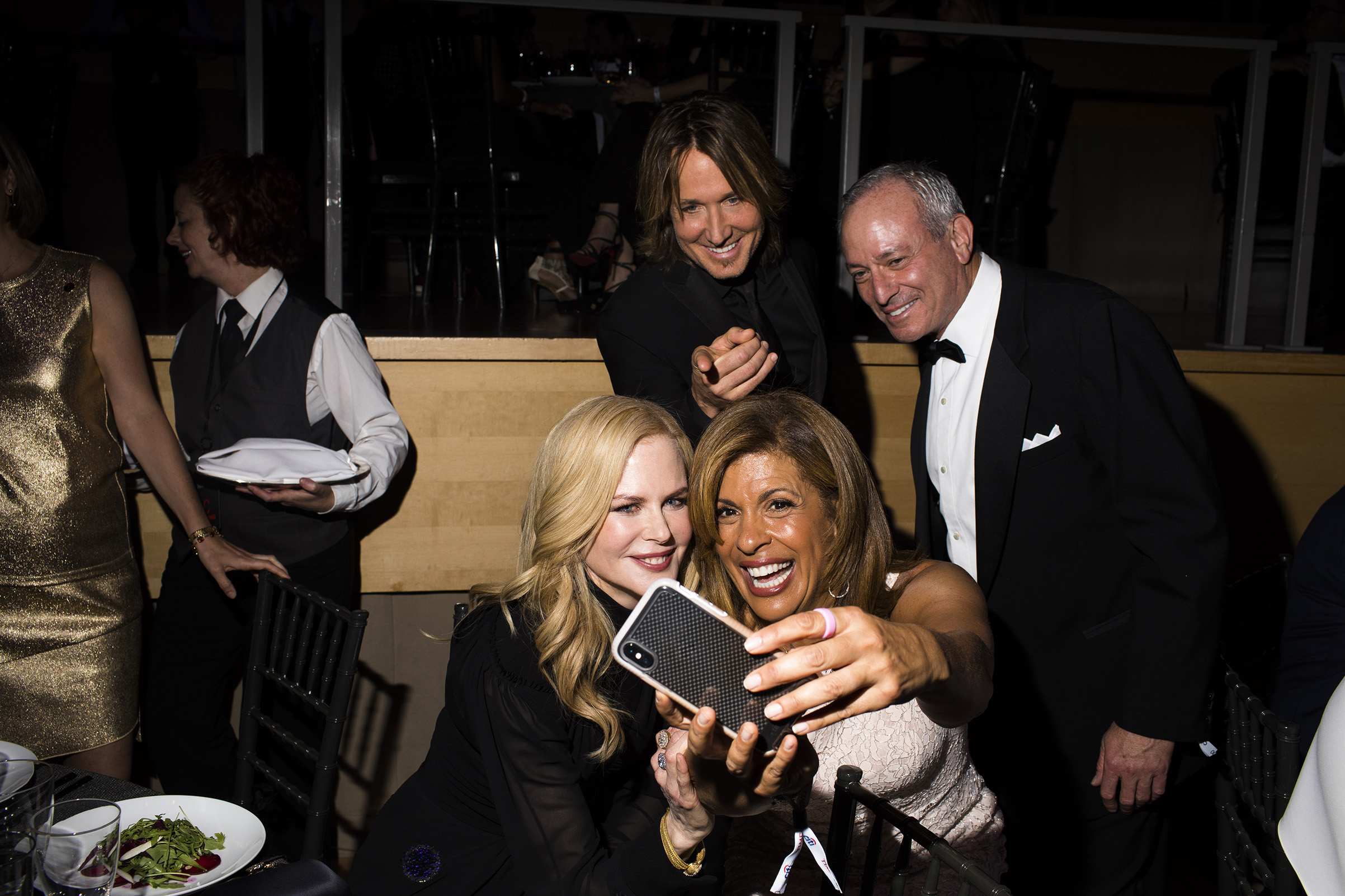 Nicole Kidman, Hoda Kotb, Keith Urban and Joel Schiffman take a photo at the Time 100 Gala at Jazz at Lincoln Center on April 24, 2018 in New York City.