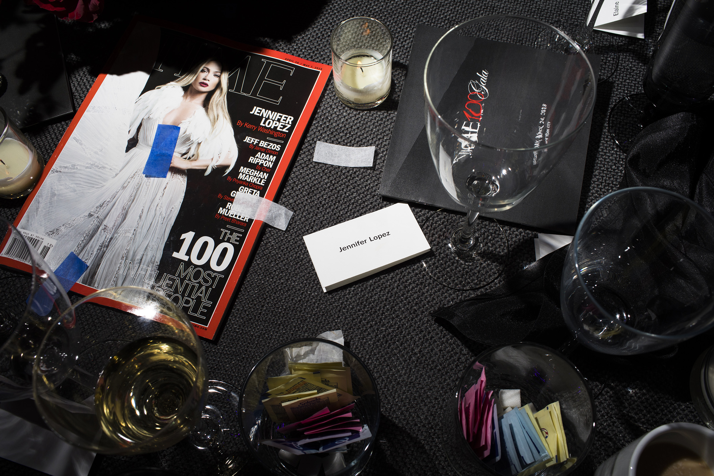 A table setting at the Time 100 Gala at Jazz at Lincoln Center on April 24, 2018 in New York City.