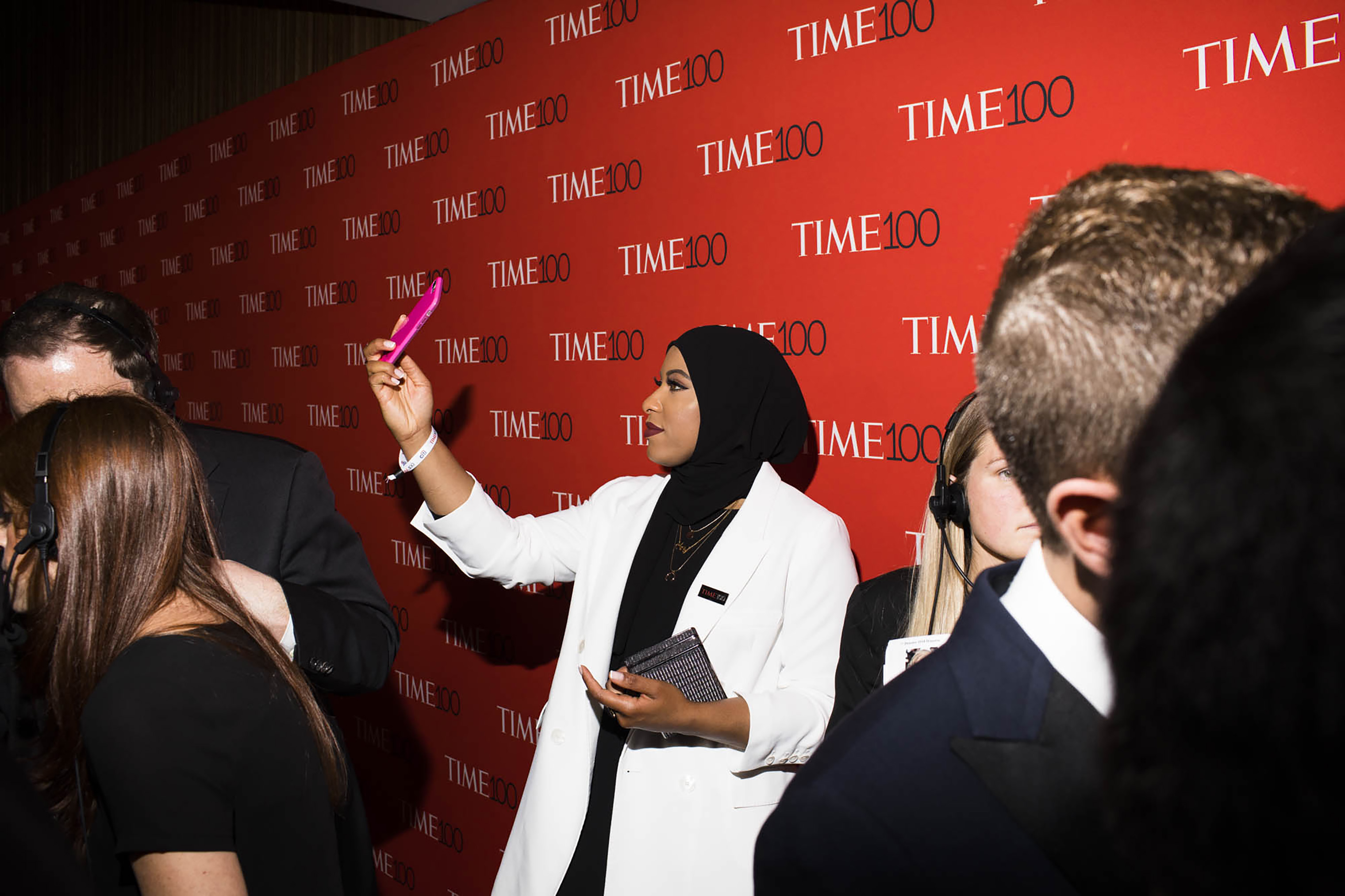 U.S. Olympic fencer Ibtihaj Muhammad at the Time 100 Gala at Jazz at Lincoln Center on April 24, 2018 in New York City.