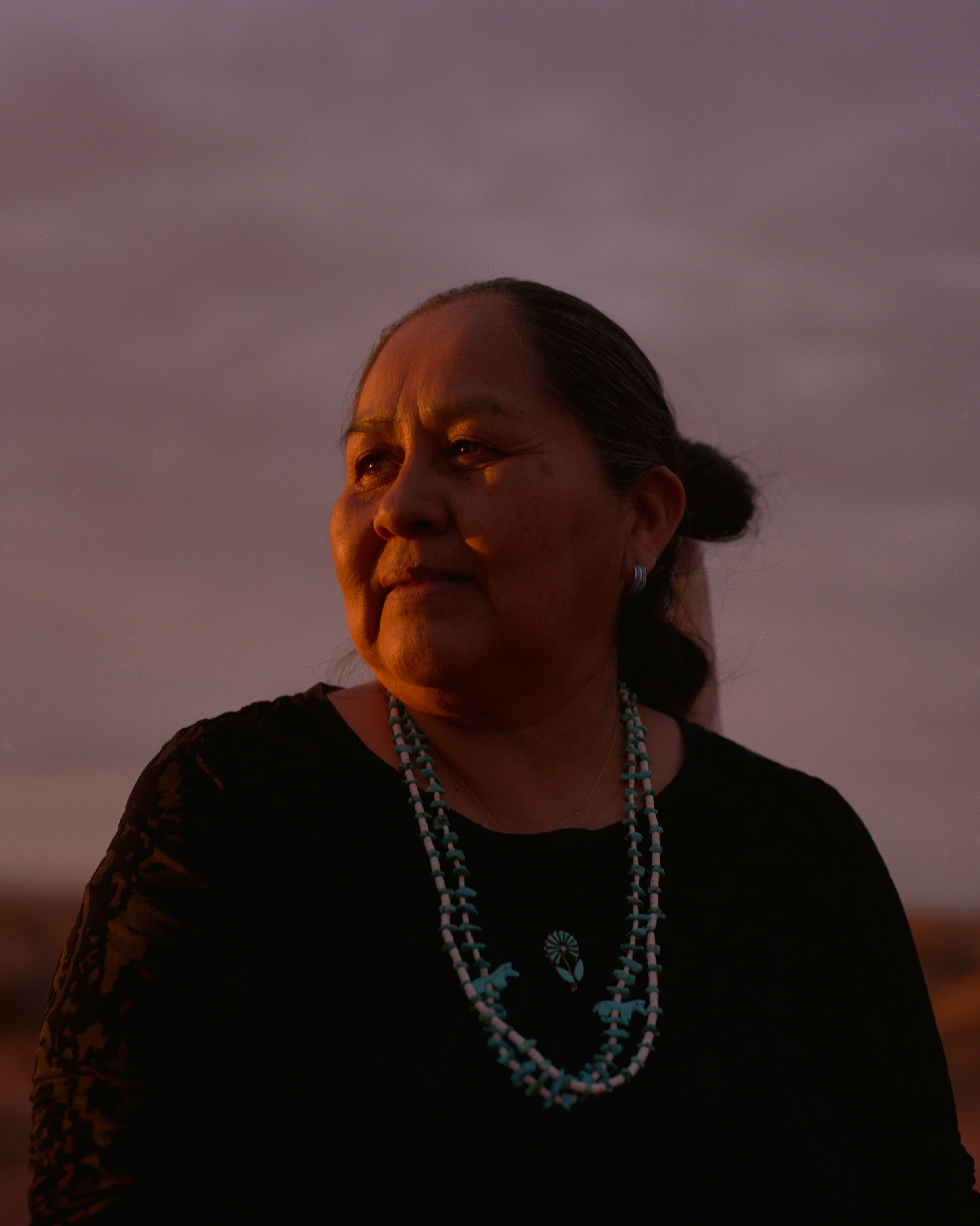 Elouise Wilson is pictured at her home in Monument Valley, on the Navajo reservation. Wilson is the mother of eight and lived with her family in a traditional hogan as recent as 2006. She is the mother of Cynthia Wilson, a Traditional Foods Program Director for the Utah Dine Bikeyah who is also helping to protect Bears Ears and its cultural traditions.