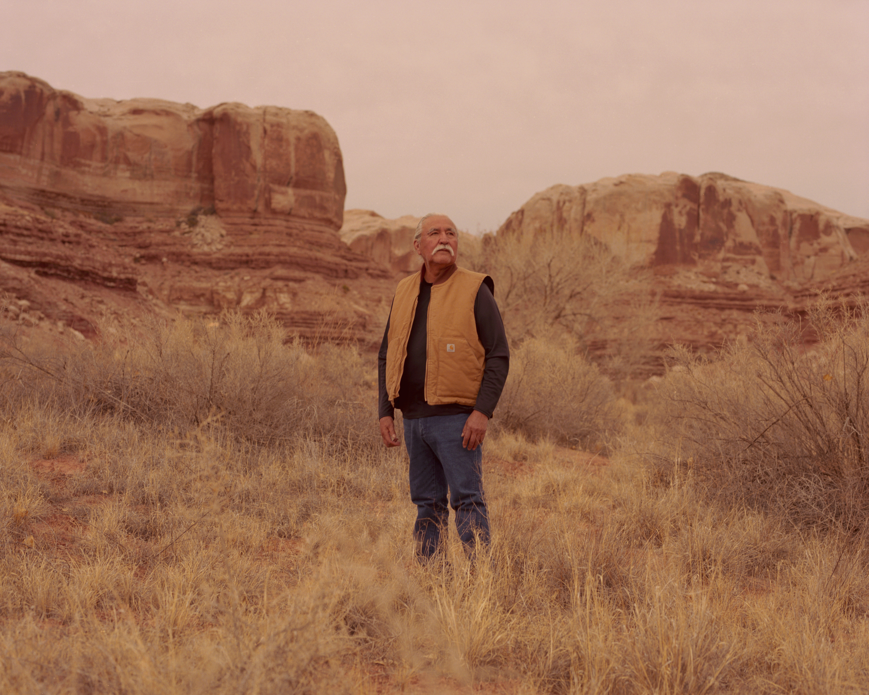 Willie Grayeyes is pictured in Bluff, Utah, one of the towns in Southeastern Utah where residents have been divided in their support of the monument. Grayeyes works with the Bears Ears Commission, a coalition of five tribes that was formed to help direct how the land in the national monument would be managed, according to plans laid out in the Obama proclamation. He has also been attempting to run for local office as a Democrat in San Juan County, where Bears Ears is located. The Republican-controlled commission has opposed the monument and officials have been seeking to prove that Grayeyes is not eligible to run. A new set of commissioners more sympathetic to tribes could work to support the monument. As it stands, the county has requested to join the Bears Ears lawsuit as a defendant, alongside President Trump.