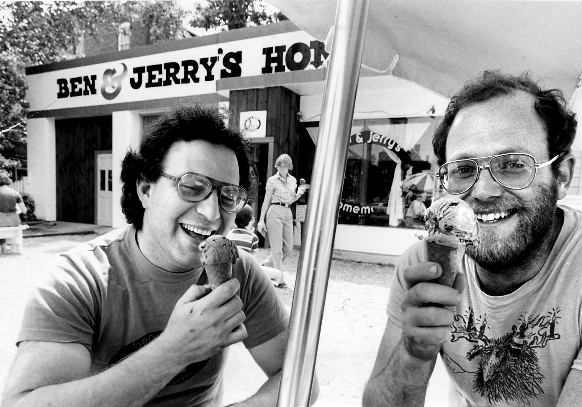 Jerry Greenfield and Ben Cohen in Bennington, Vt.,July 3, 1980.