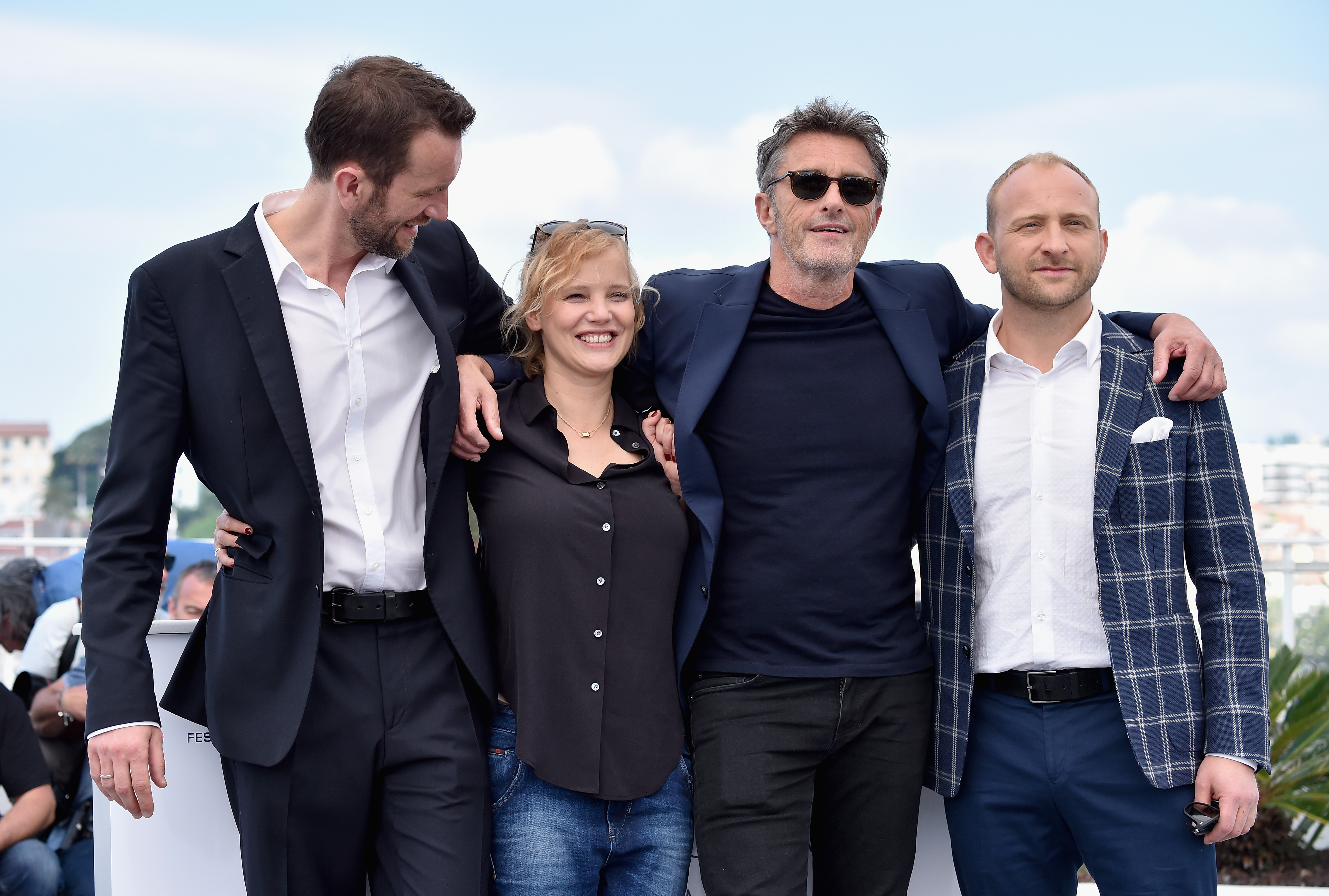 Actor Tomasz Kot, actress Joanna Kulig, director Pawel Pawlikowsk and actor Borys Szyc at the 71st annual Cannes Film Festival on May 11, 2018 in Cannes, France.