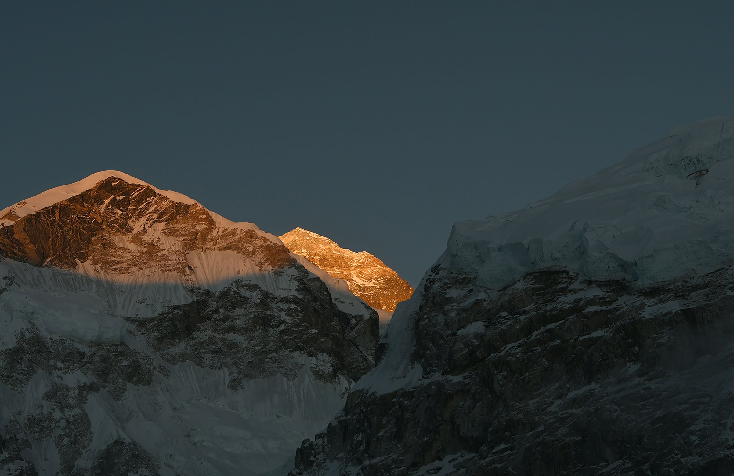 Mount Everest, seen on April 21, 2018.