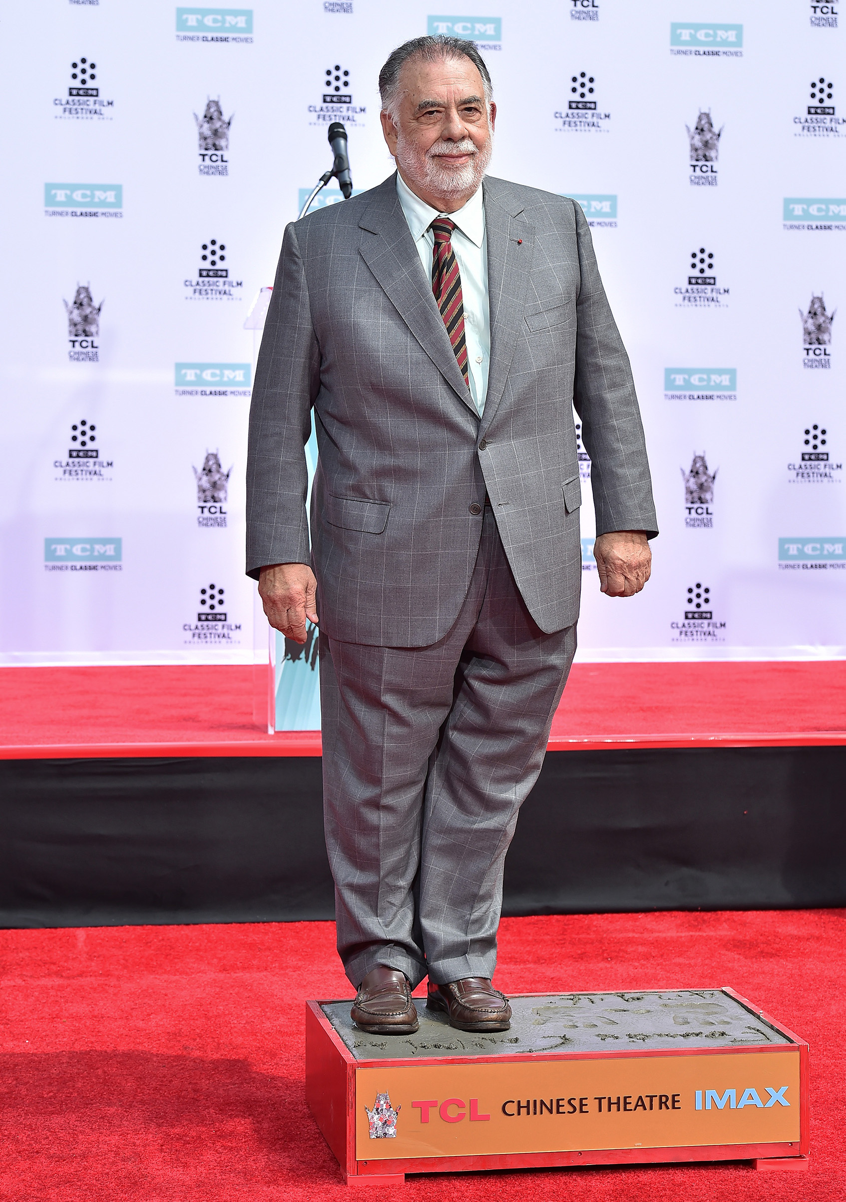 Director Francis Ford Coppola is honored with Hand and Footprint Ceremony at TCL Chinese Theatre IMAX on April 29, 2016 in Hollywood, California