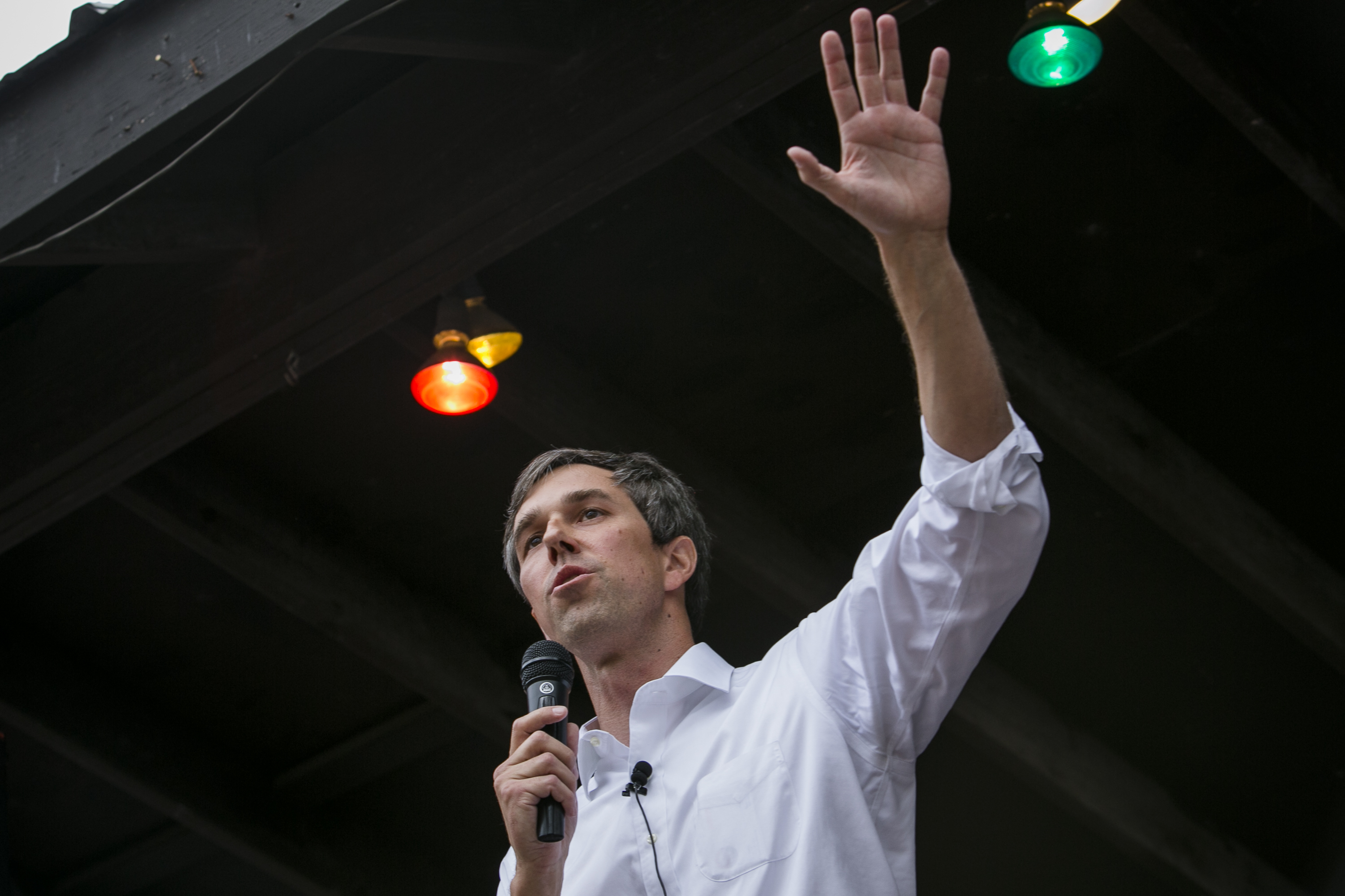 Rep. Beto O'Rourke (D-TX) speaks to a group of supporters at Scholz Garten on April 1, 2017 in Austin, Texas. Drew Anthony Smith—Getty Images