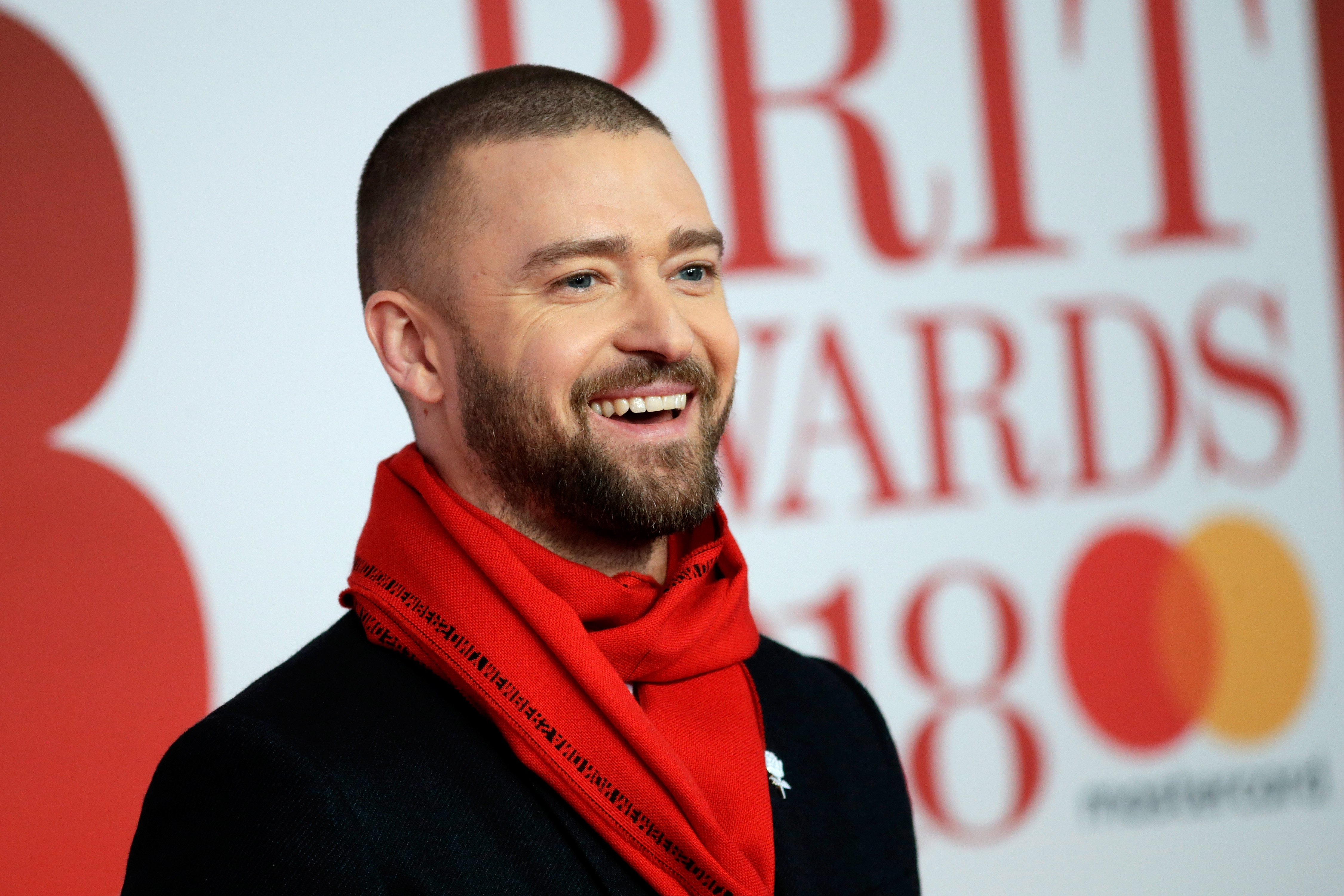 Justin Timberlake attends The BRIT Awards 2018 held at The O2 Arena in London, England on Feb. 21, 2018.