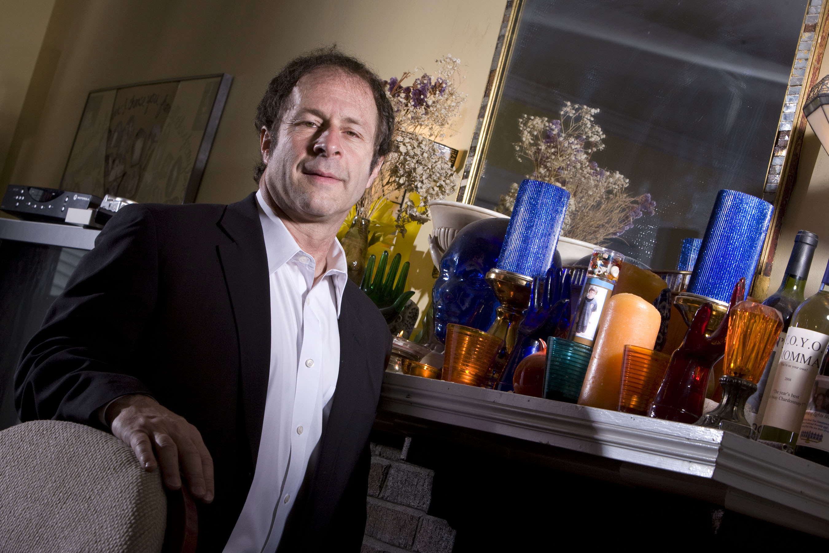 Rick Doblin, president and founder of the Multidisciplinary Association for Psychedelic Studies, poses for a portrait at his home in Belmont, Massachusetts, U.S., on Friday, April 11, 2008. Four decades after the Grateful Dead and Timothy Leary made acid trips a counter-cultural rite of passage, Rick Doblin is trying to shake the drug's hippie image and reclaim its use as a medicine.