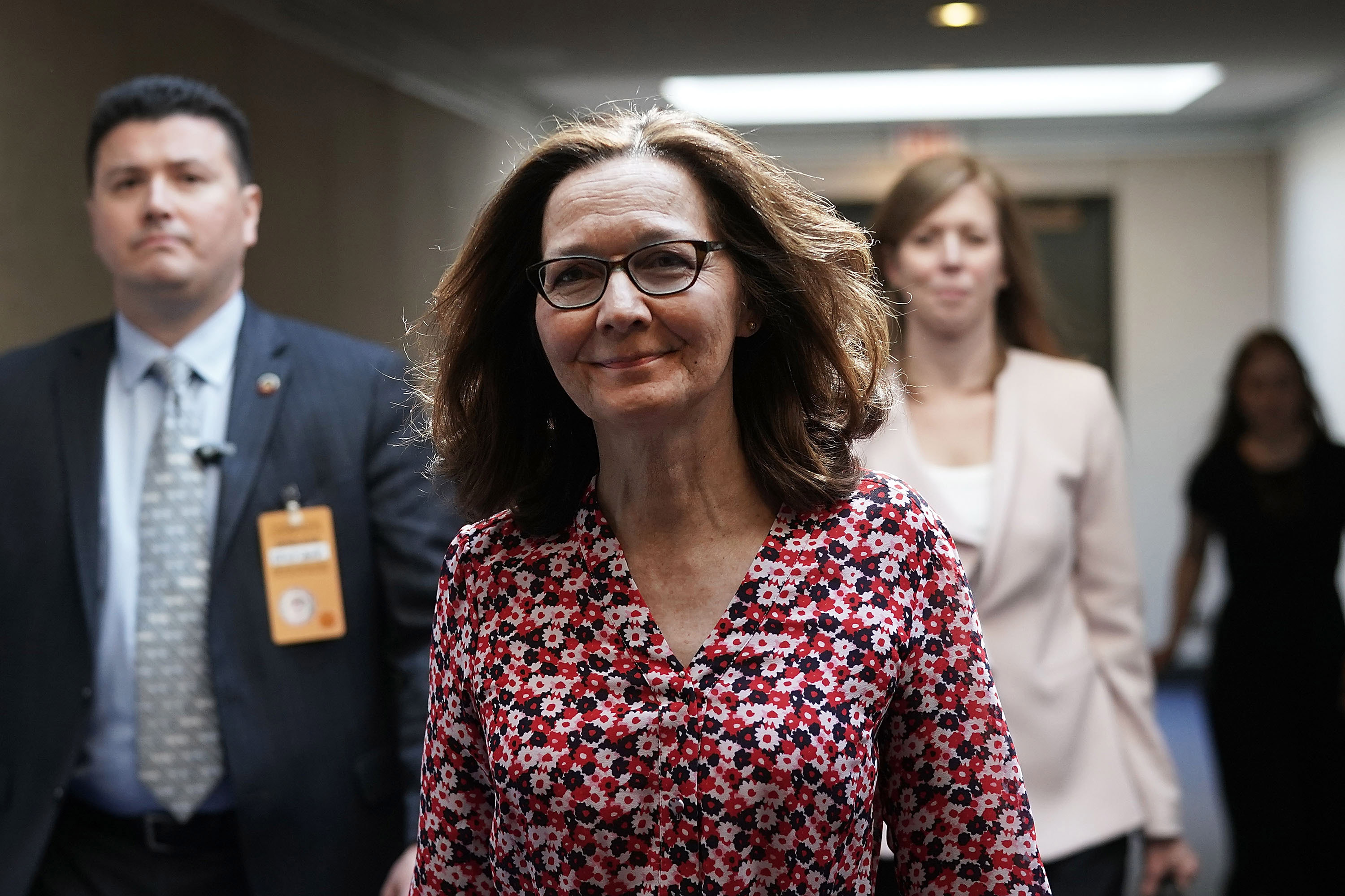 Gina Haspel, nominee to be director of the CIA, visits the Hart Senate Office Building for meetings with senators May 7, 2018 on Capitol Hill in Washington, D.C.