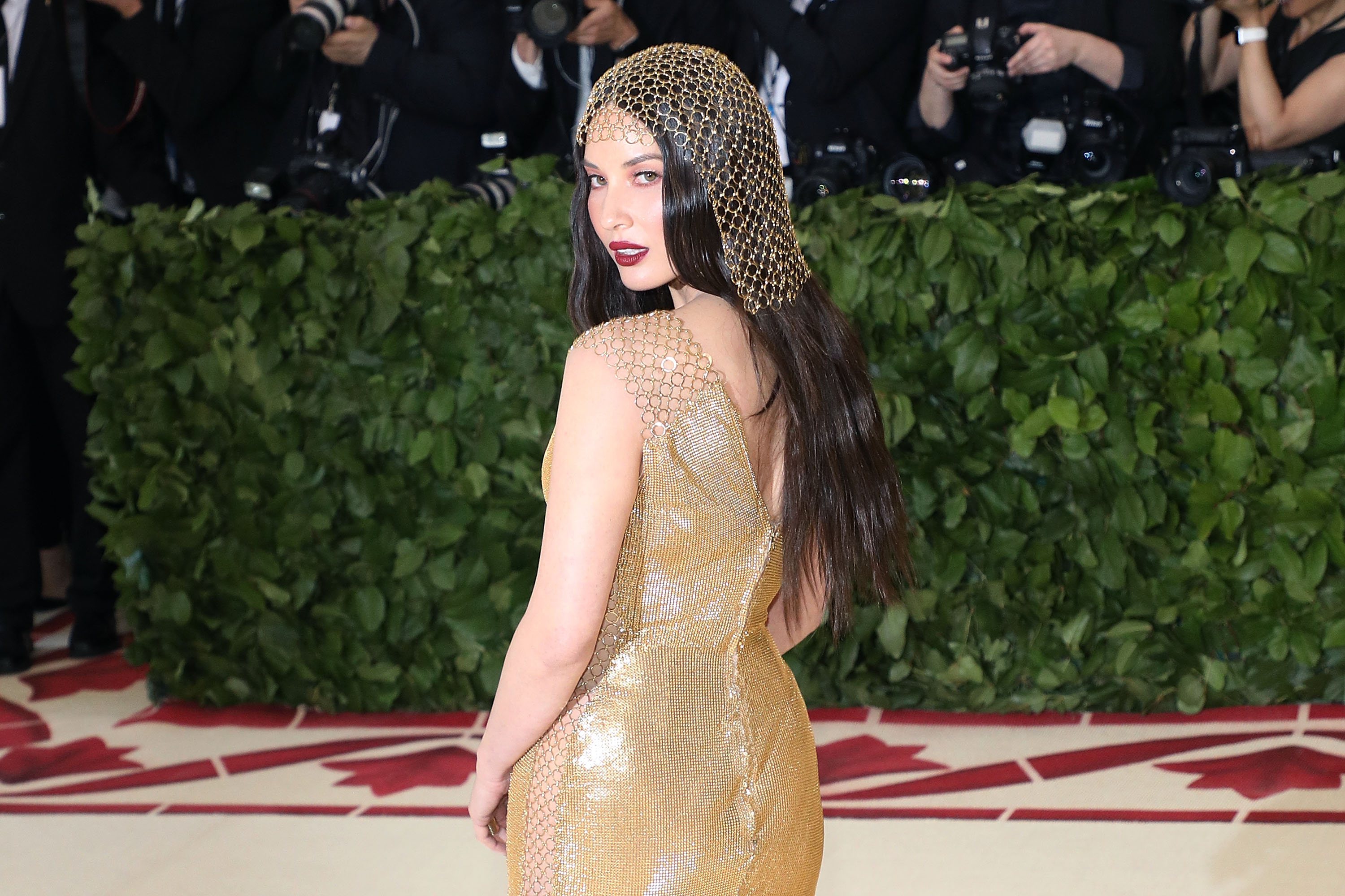 Olivia Munn attends the 2018 Met Gala in New York City.  (Photo by Taylor Hill/Getty Images)