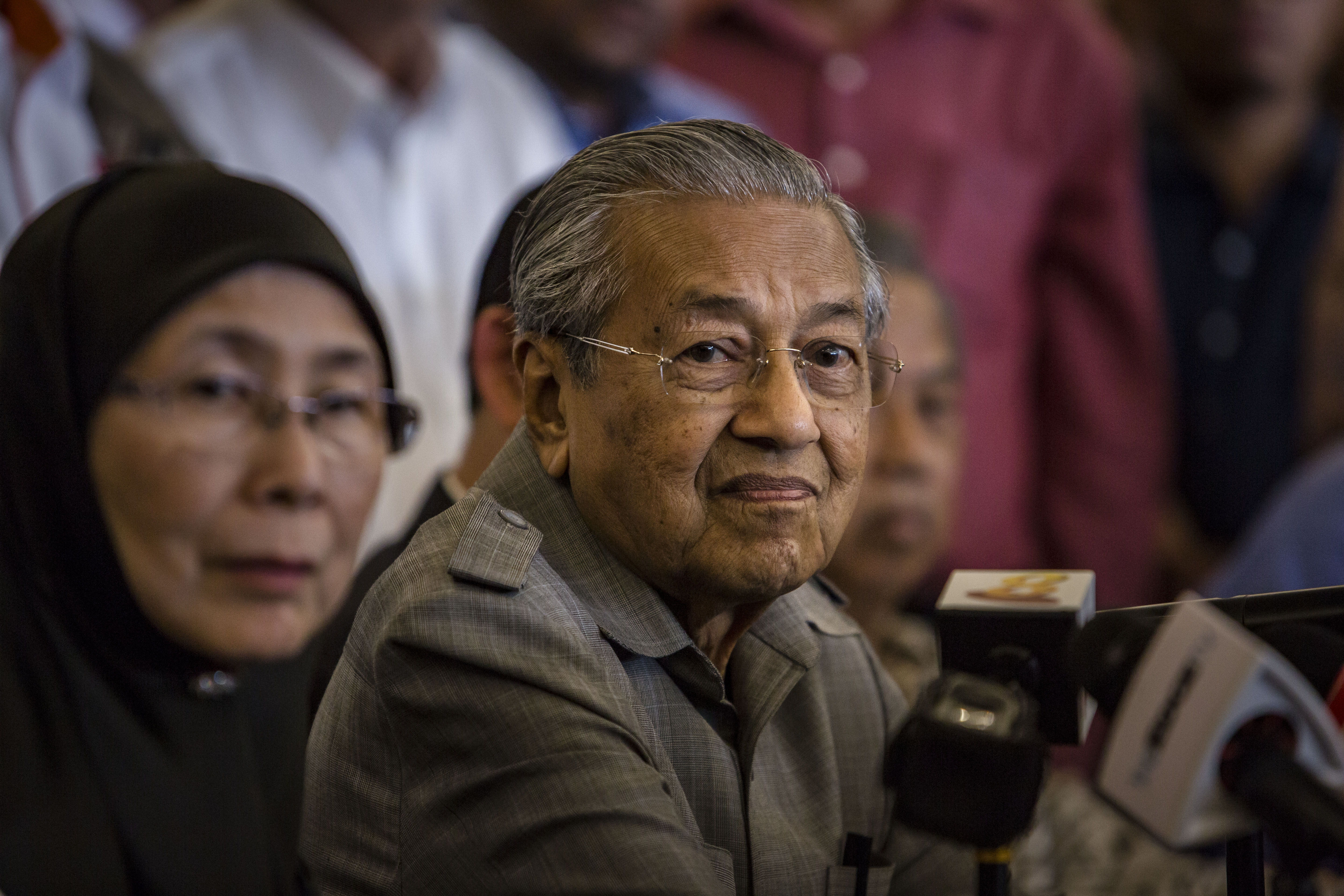 Mahathir Mohamad, chairman of 'Pakatan Harapan' during press conference following the 14th general election on May 10, 2018 in Kuala Lumpur, Malaysia.