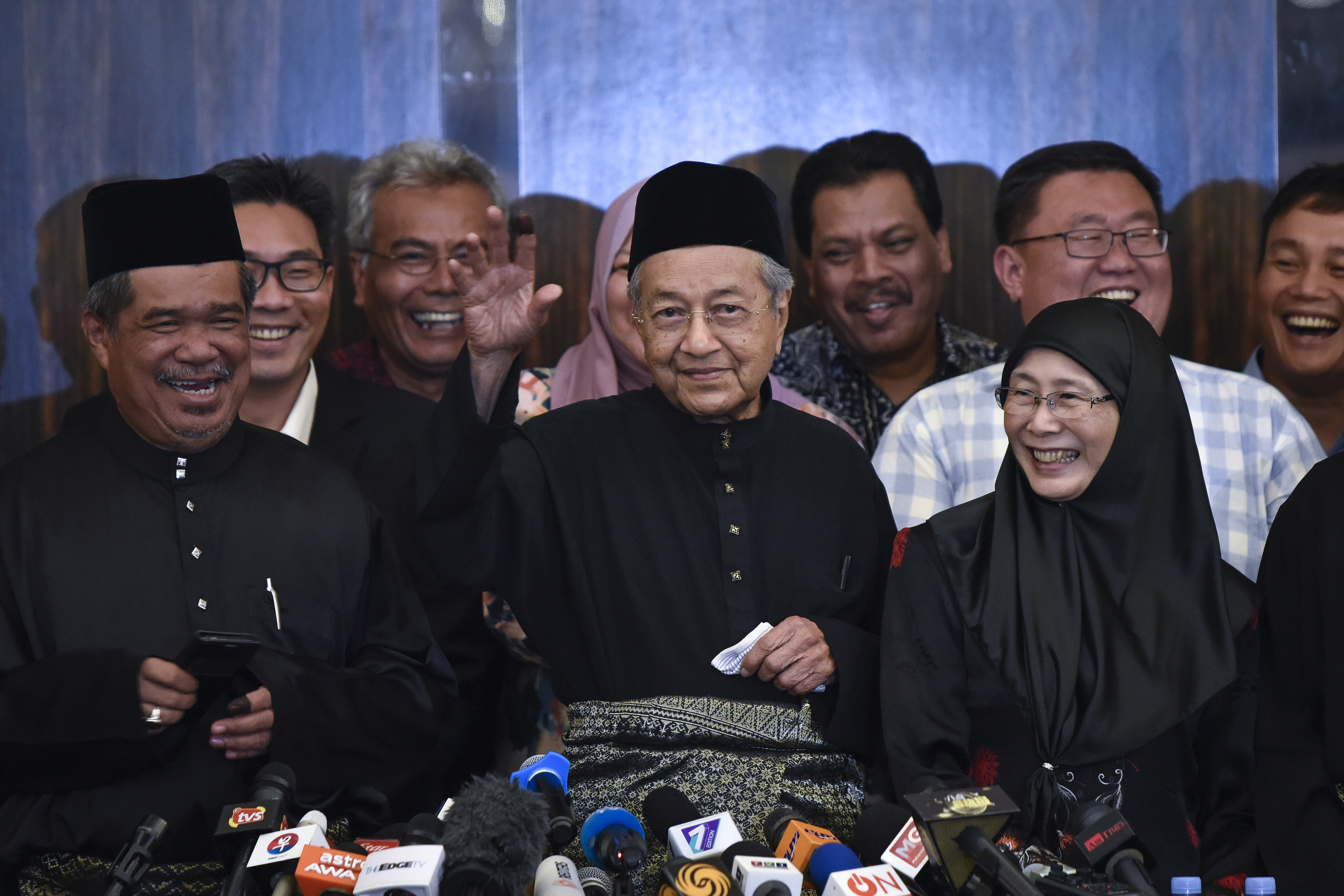 The 7th Malaysian Prime Minister and opposition candidate Mahathir Mohamad during a press conference on May 10, 2018 in Kuala Lumpur, Malaysia.