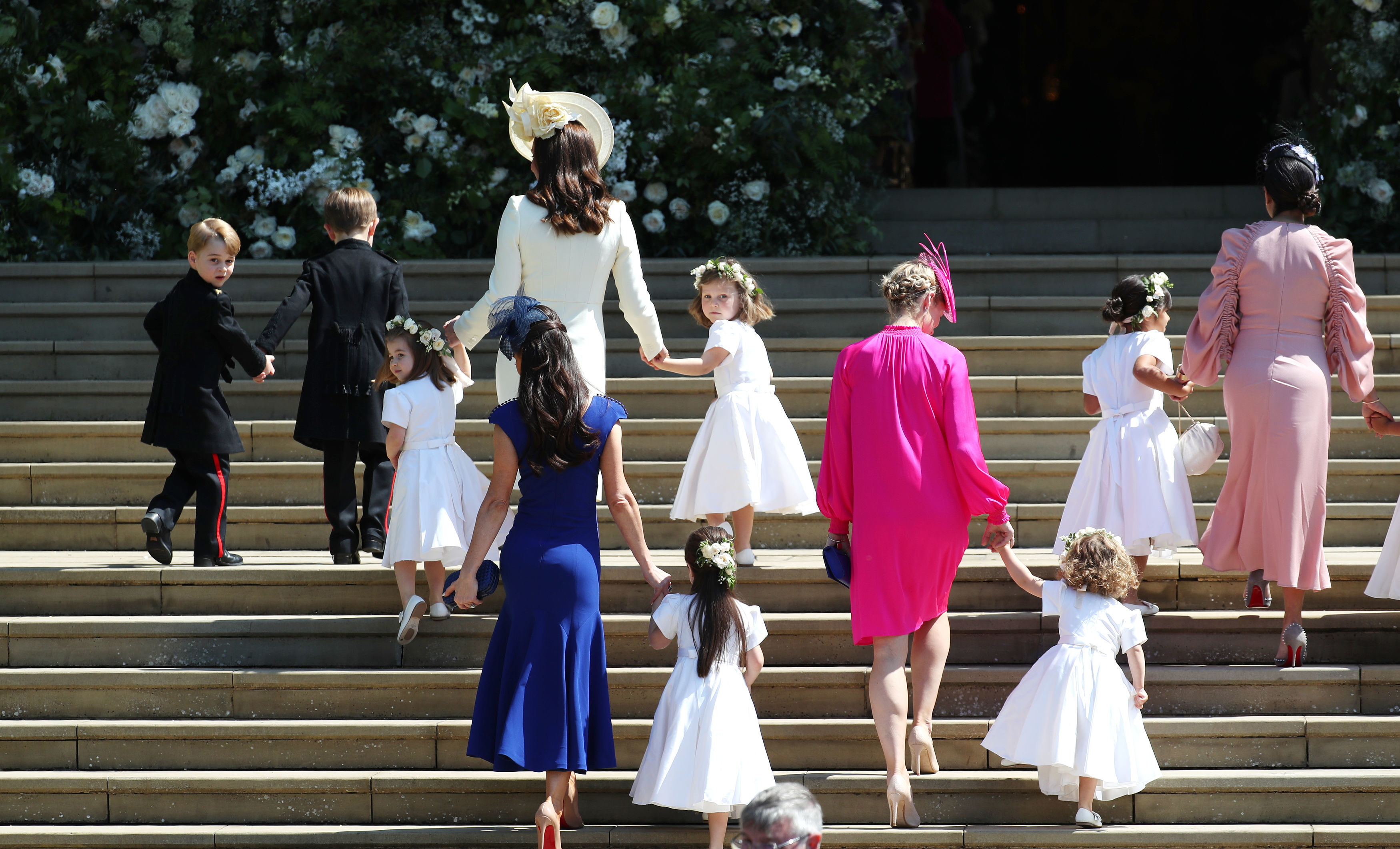 Prince George and Princess Charlotte stole the show at the 2018 royal wedding. (Photo by DJane Barlow - WPA Pool/Getty Images)