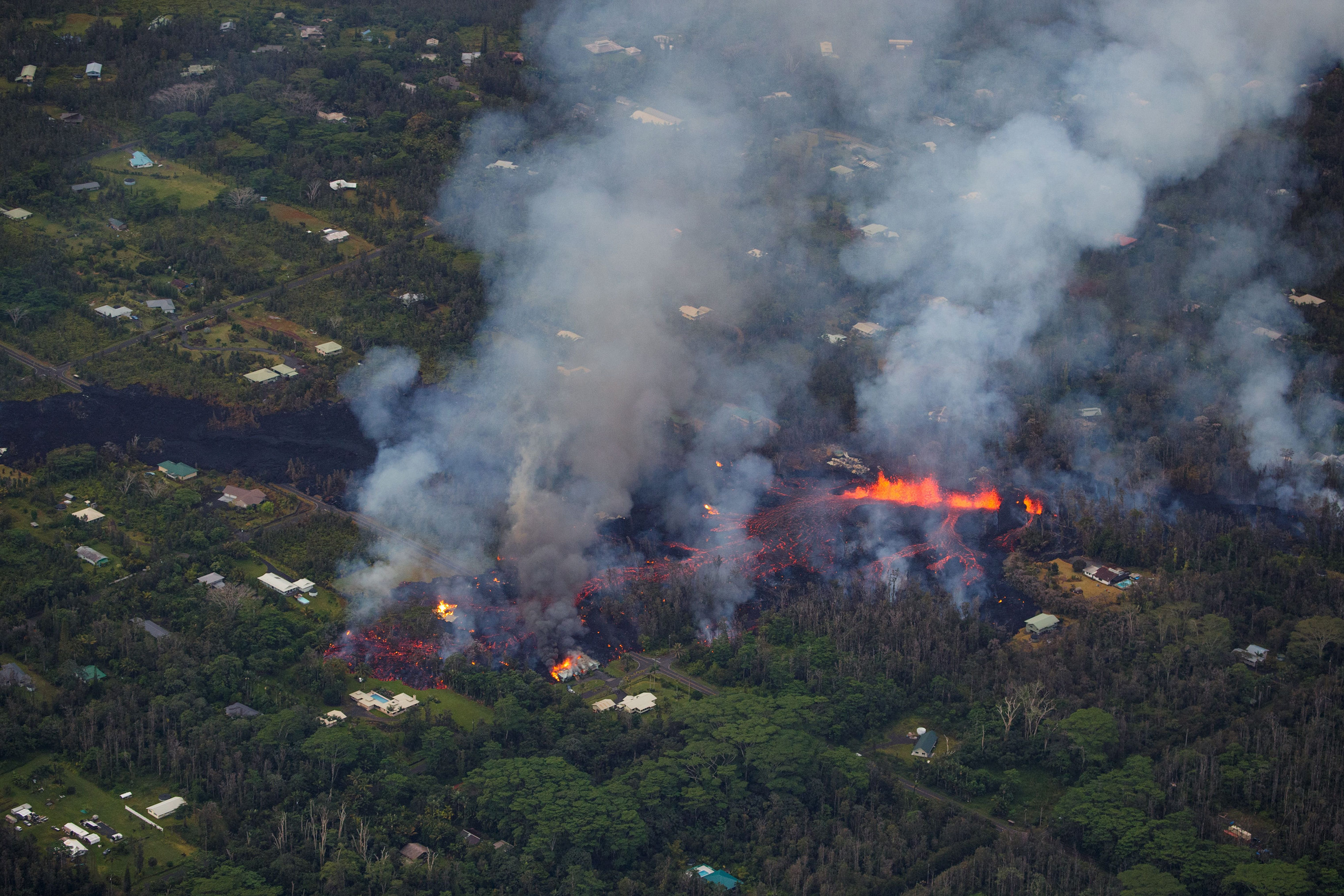 At least 26 homes were burned during the latest volcanic activity.