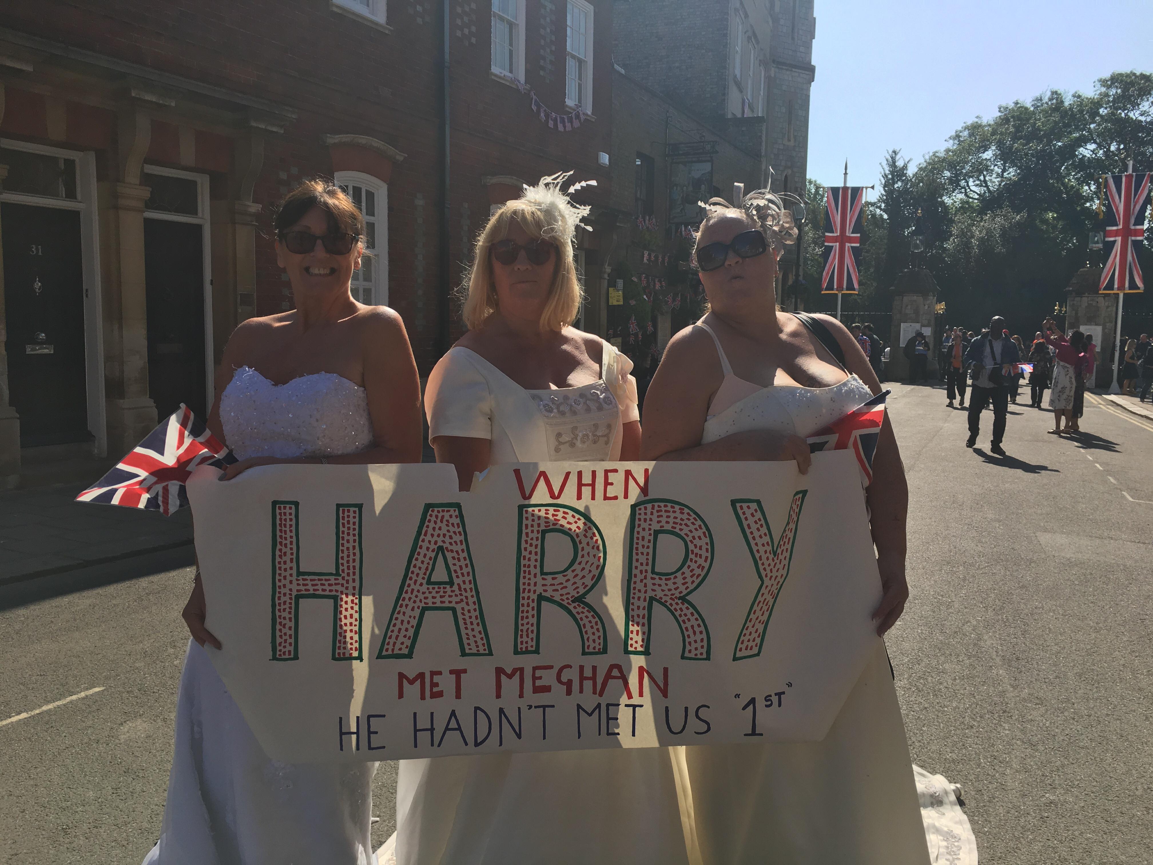 Sandra Shaw, Loraine Raines and Trish Hodkinson in Windsor on May 19, 2018.