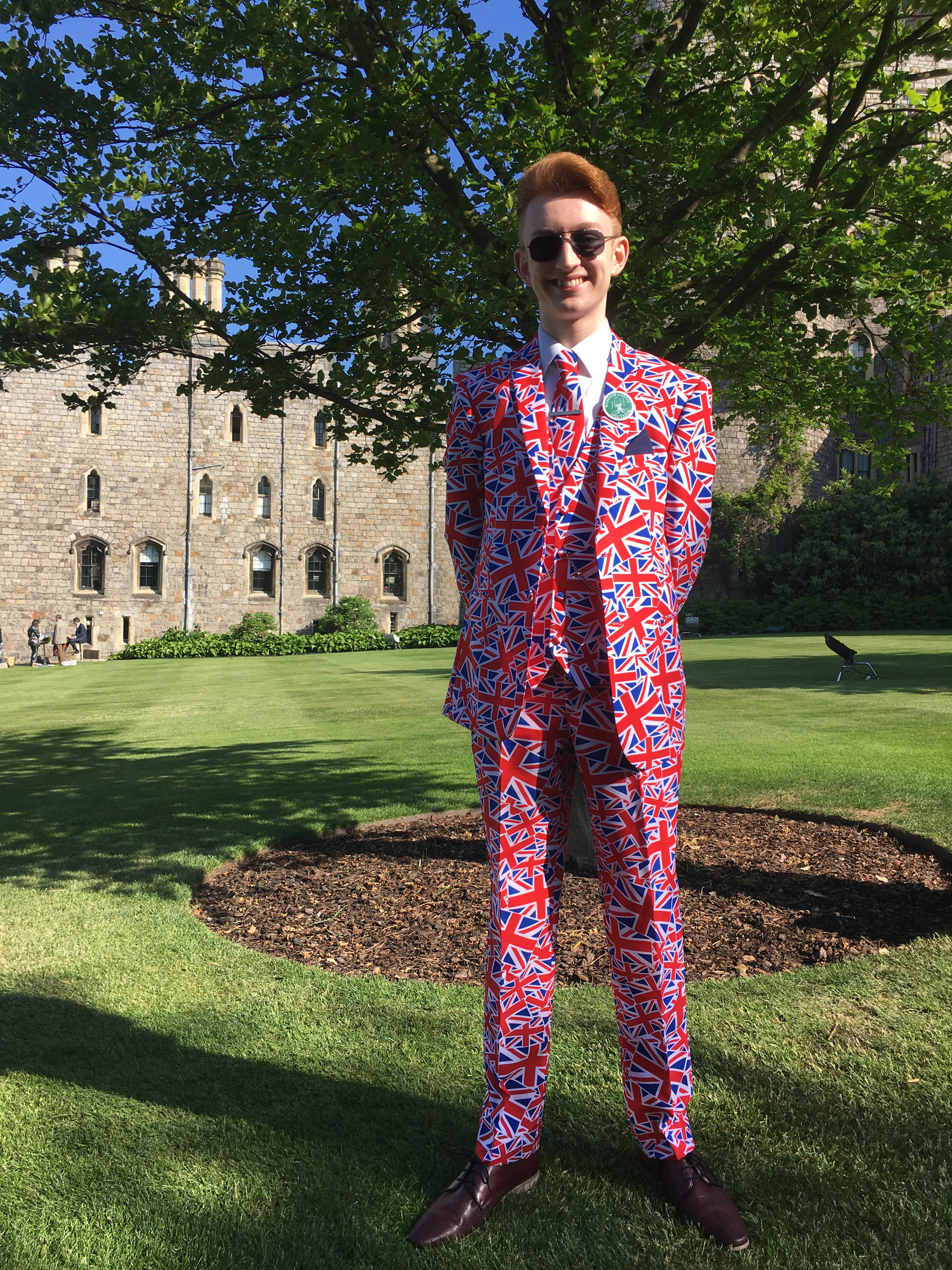 Alexander Willis, a politician from Newport, in the grounds of Windsor Castle on May 19, 2018.