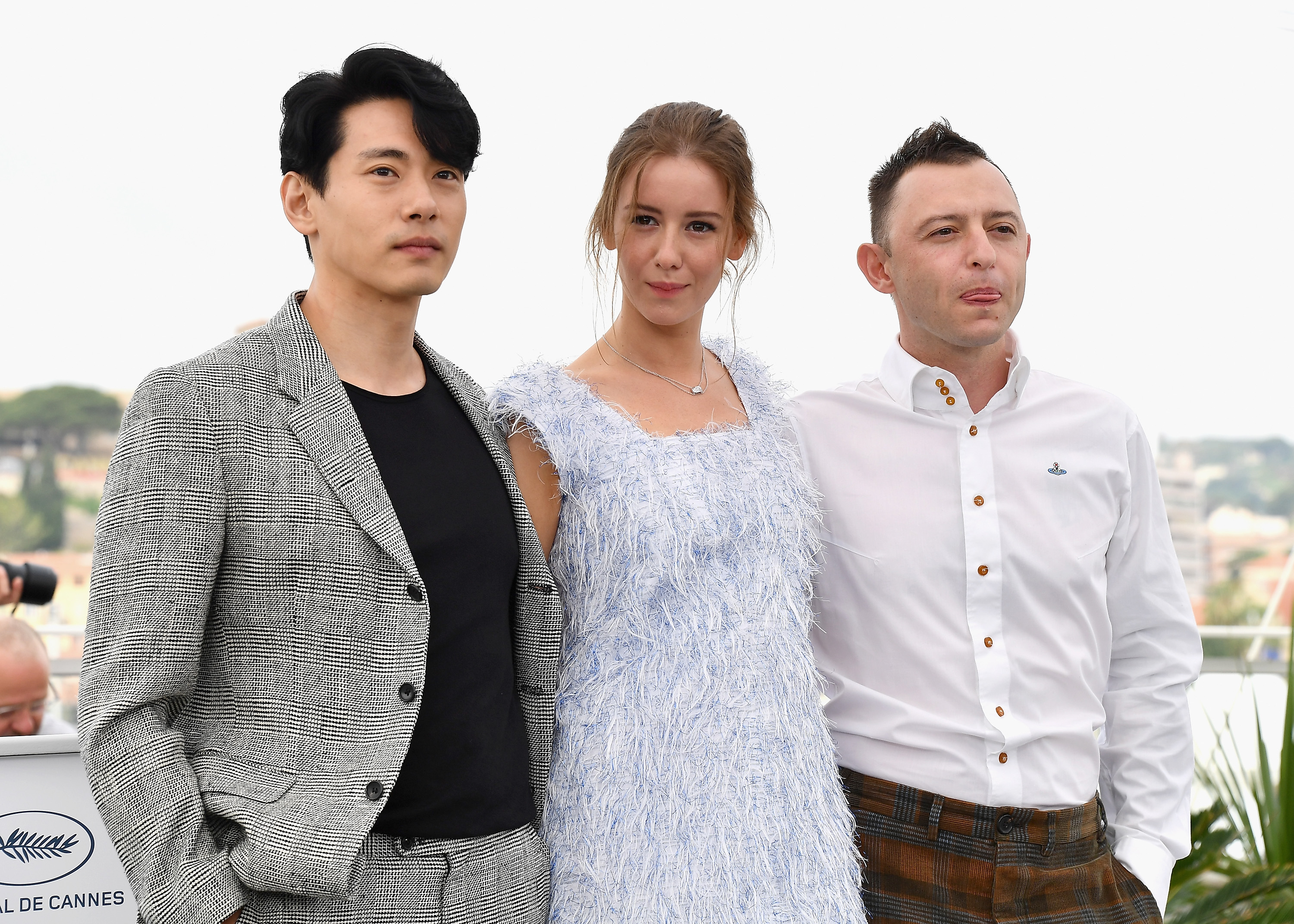 Teo Yoo, Irina Starshenbaum and Roma Zver attend the photocall for  Leto   during the 71st annual Cannes Film Festival on May 10, 2018 in Cannes, France.