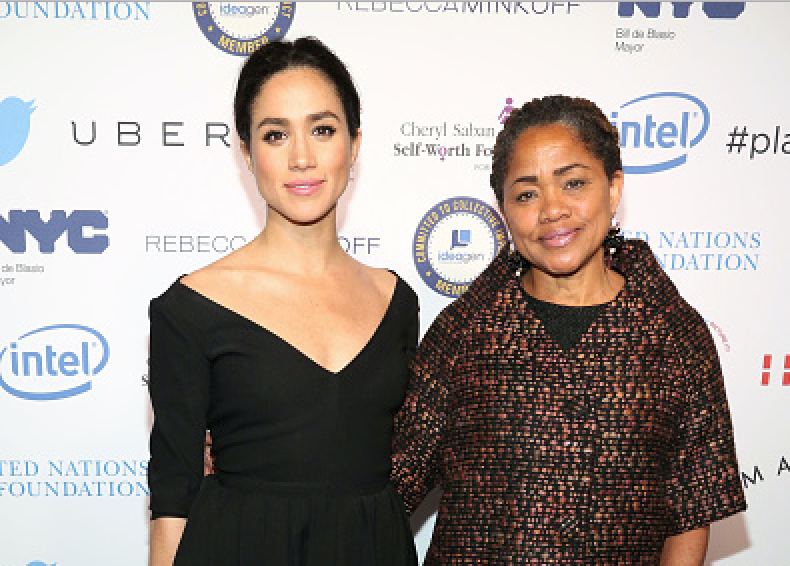 Meghan Markle and Doria Ragland attend UN Women's 20th Anniversary of the Fourth World Conference of Women in Beijing at Manhattan Centre at Hammerstein Ballroom on March 10, 2015 in New York City.