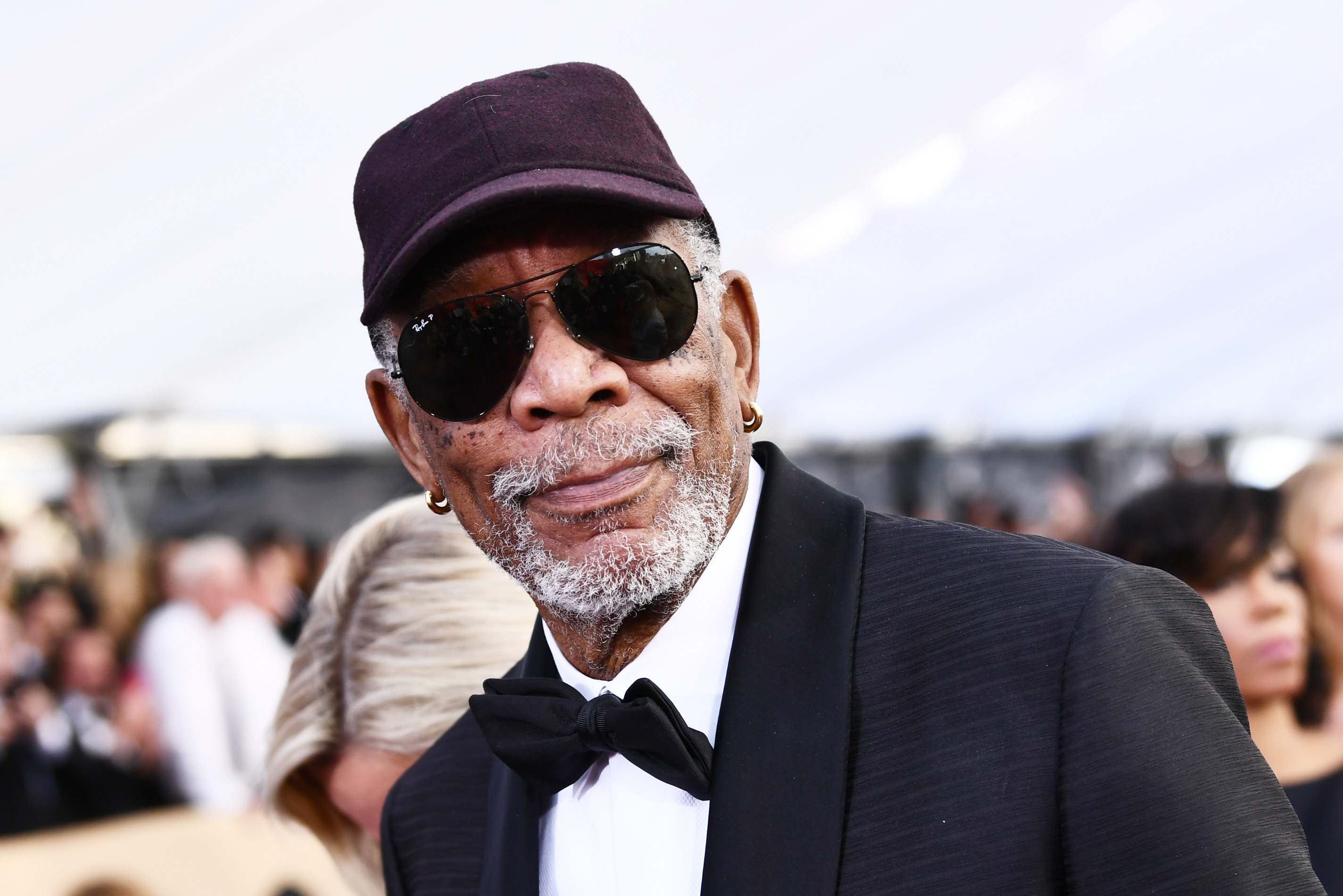Actor Morgan Freeman attends the Screen Actors Guild Awards on January 21, 2018.