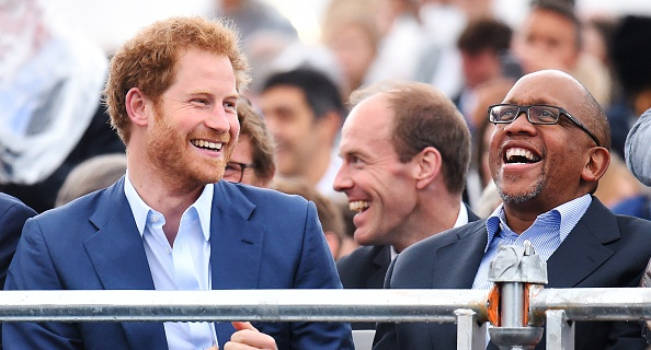 Prince Harry and Prince Seeiso of Lesotho during the Sentebale Concert at Kensington Palace on June 28, 2016 in London, England.