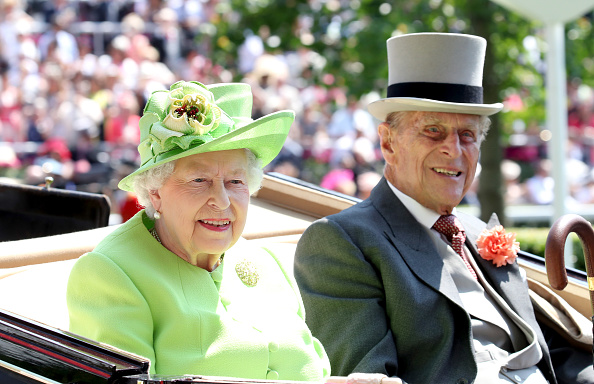 Queen Elizabeth II and Prince Philip, Duke of Edinburgh arrive with the Royal Procession as they attend Royal Ascot 2017 at Ascot Racecourse on June 20, 2017 in Ascot, England.