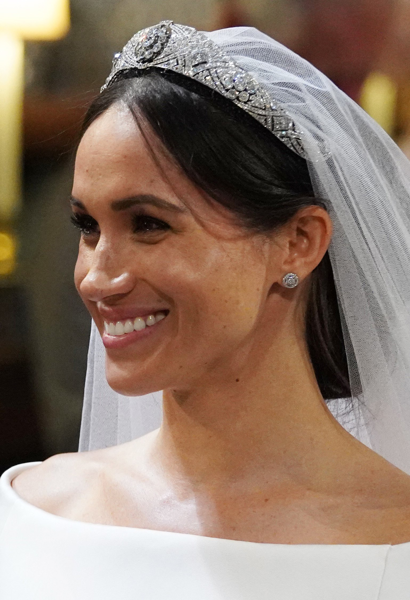 Meghan Markle in St George's Chapel at Windsor Castle during her wedding to Prince Harry, May 19, 2018.