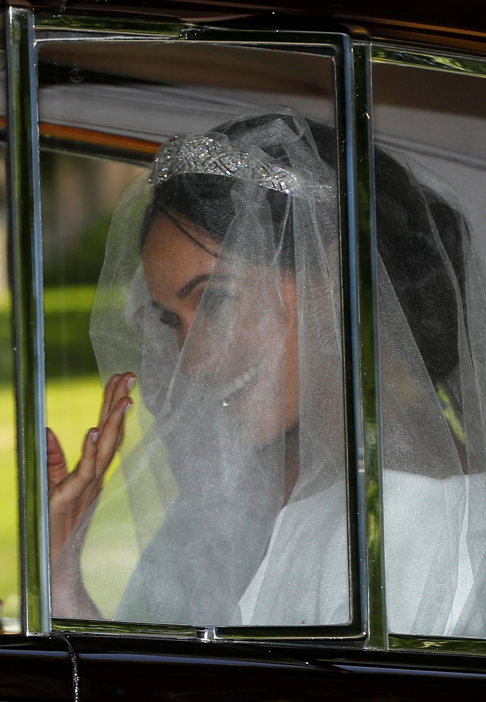 Meghan Markle leaves the Cliveden House Hotel, for her wedding at St George's Chapel at Windsor Castle to Prince Harry, May 19, 2018.