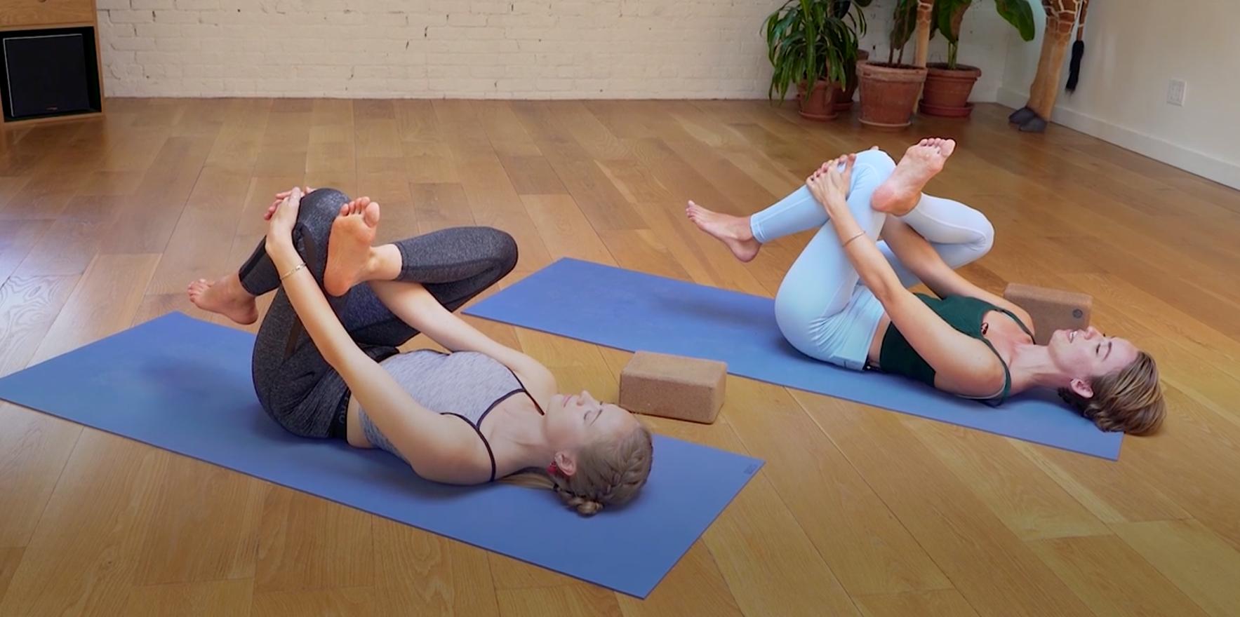 Krissy Jones and Chloe Kernaghan of Sky Ting yoga.