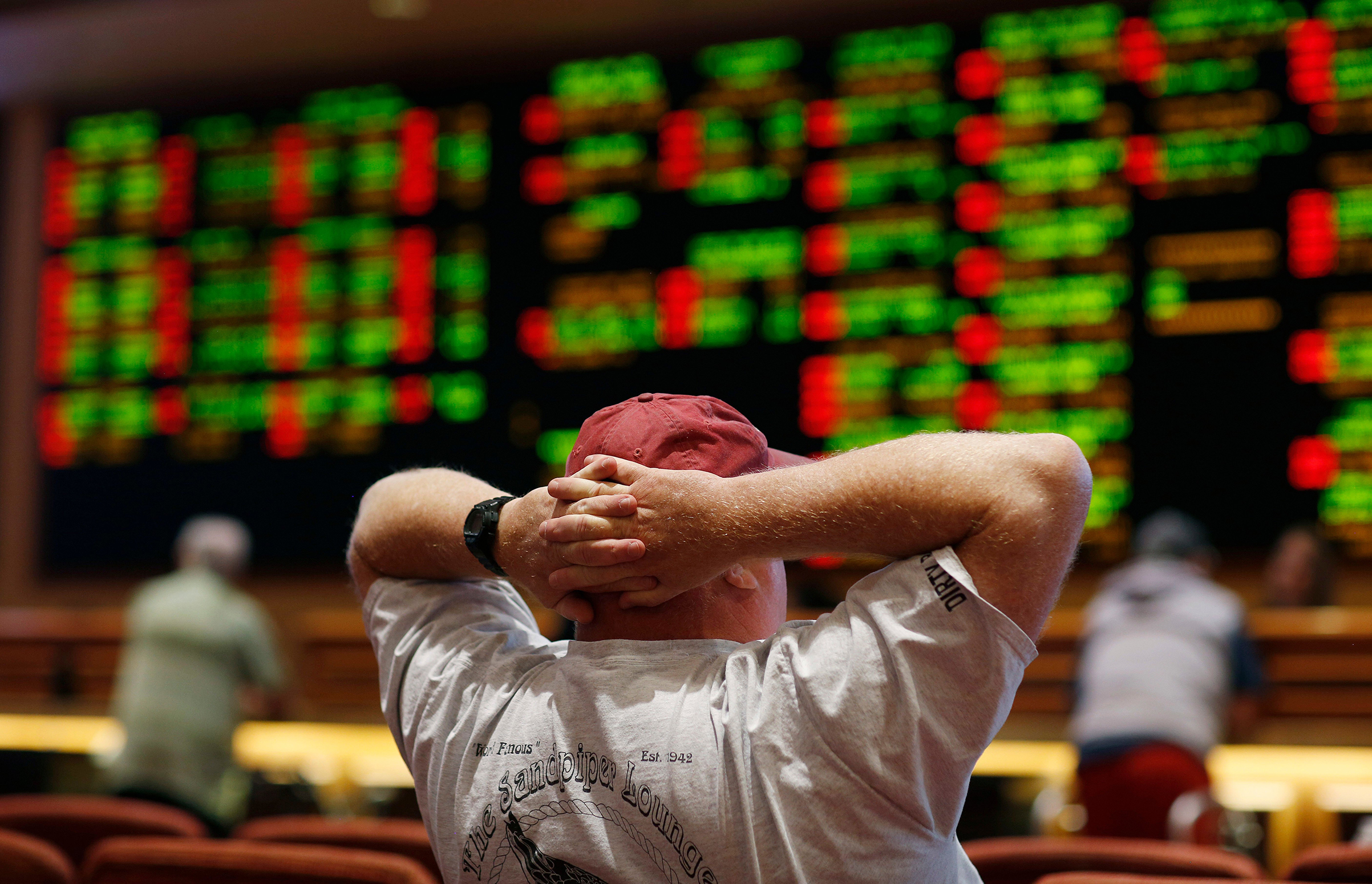Sports books, like this one in Las Vegas,                      could soon pop up across the country