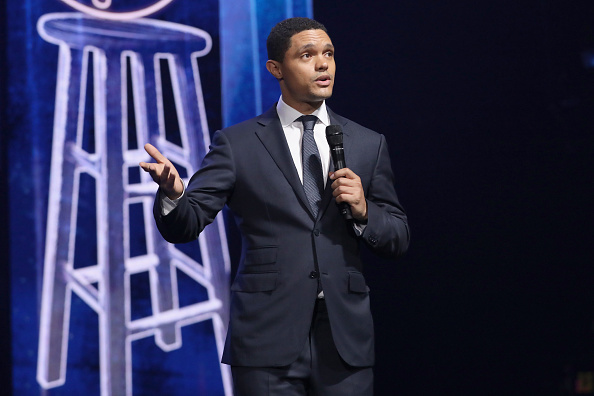Trevor Noah speaks onstage during the YouTube Brandcast 2018 presentation at Radio City Music Hall on May 3, 2018 in New York City.