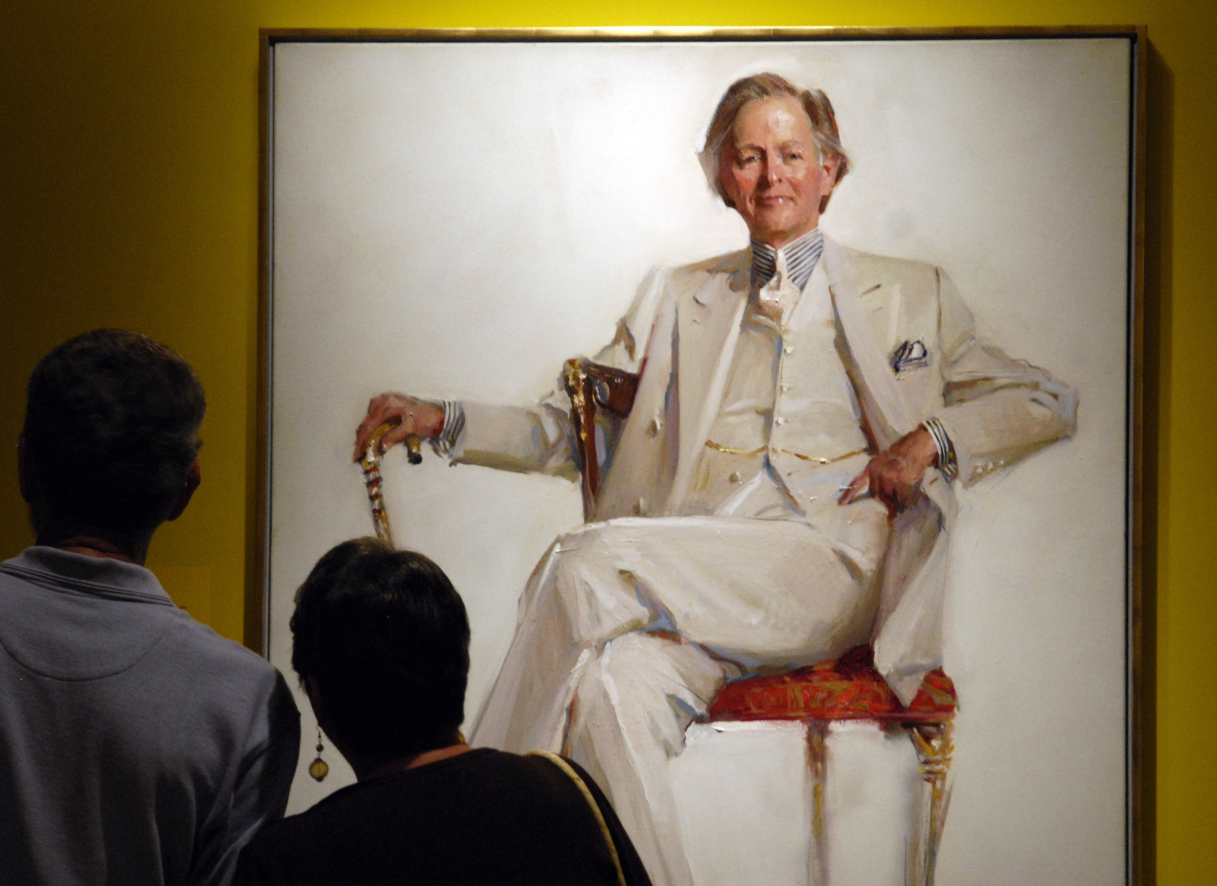 Everett Raymond Kinstler's potrait of Tom Wolfe, seen at the National Portrait Gallery in 2006