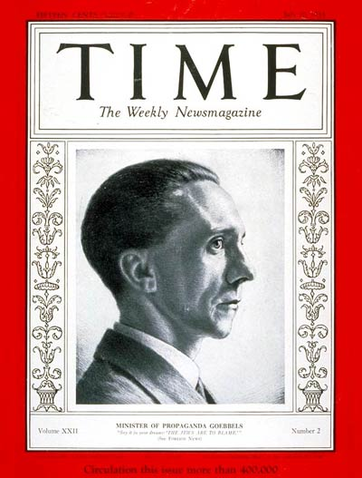The July 10, 1933, cover of TIME