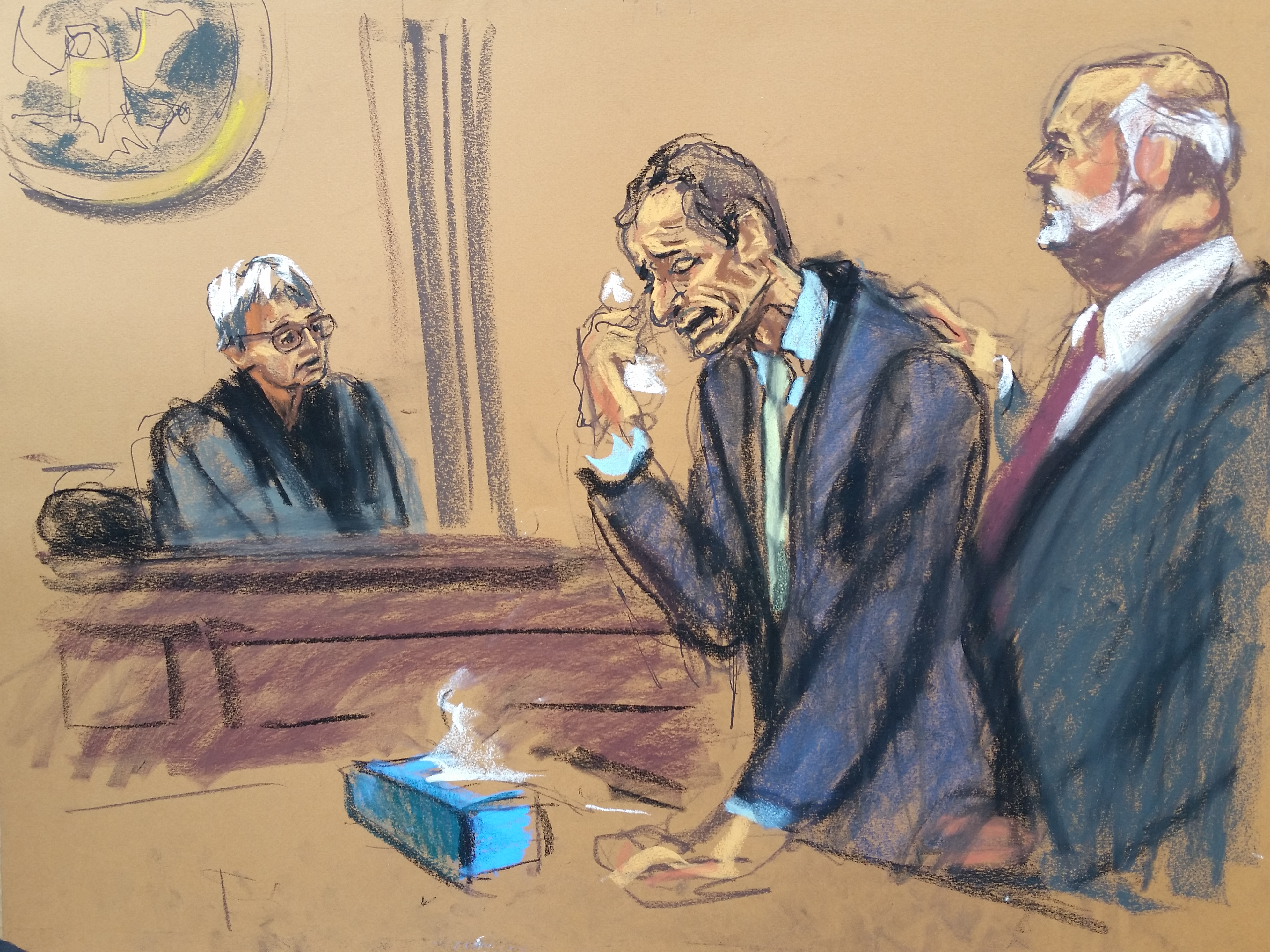 Jane Rosenberg captures Anthony Weiner at his sentencing in September 2017.