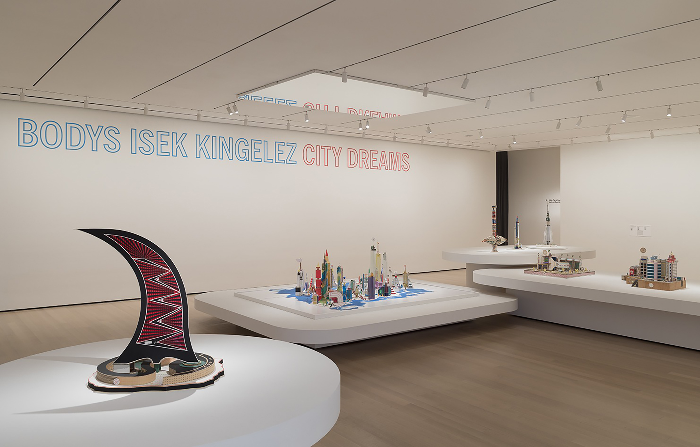 """""""I'm a designer, an architect, a sculptor, engineer, artist,"""" said Kingelez, whose work is on display in New York City through the end of the year. His utopian creations are made from a wide range of materials"""