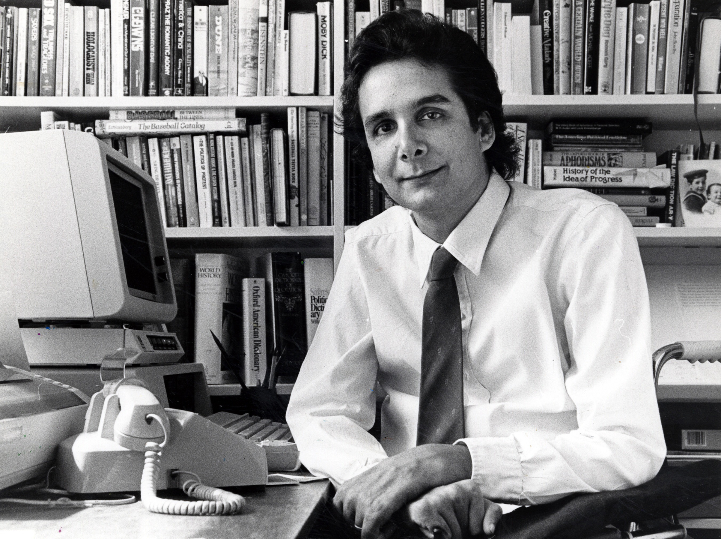 Krauthammer—pictured in Washington, D.C., in 1985—was a contributor to TIME beginning in the early 1980s